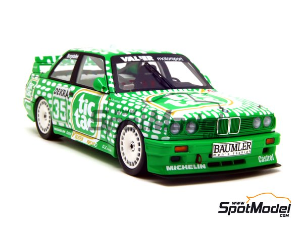 Image 7: BMW M3 E30 - DTM 1992 | Marking / livery in 1/24 scale manufactured by Decalcas (ref. DCL-DEC006)