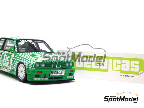 Image 14: BMW M3 E30 - DTM 1992 | Marking / livery in 1/24 scale manufactured by Decalcas (ref. DCL-DEC006)
