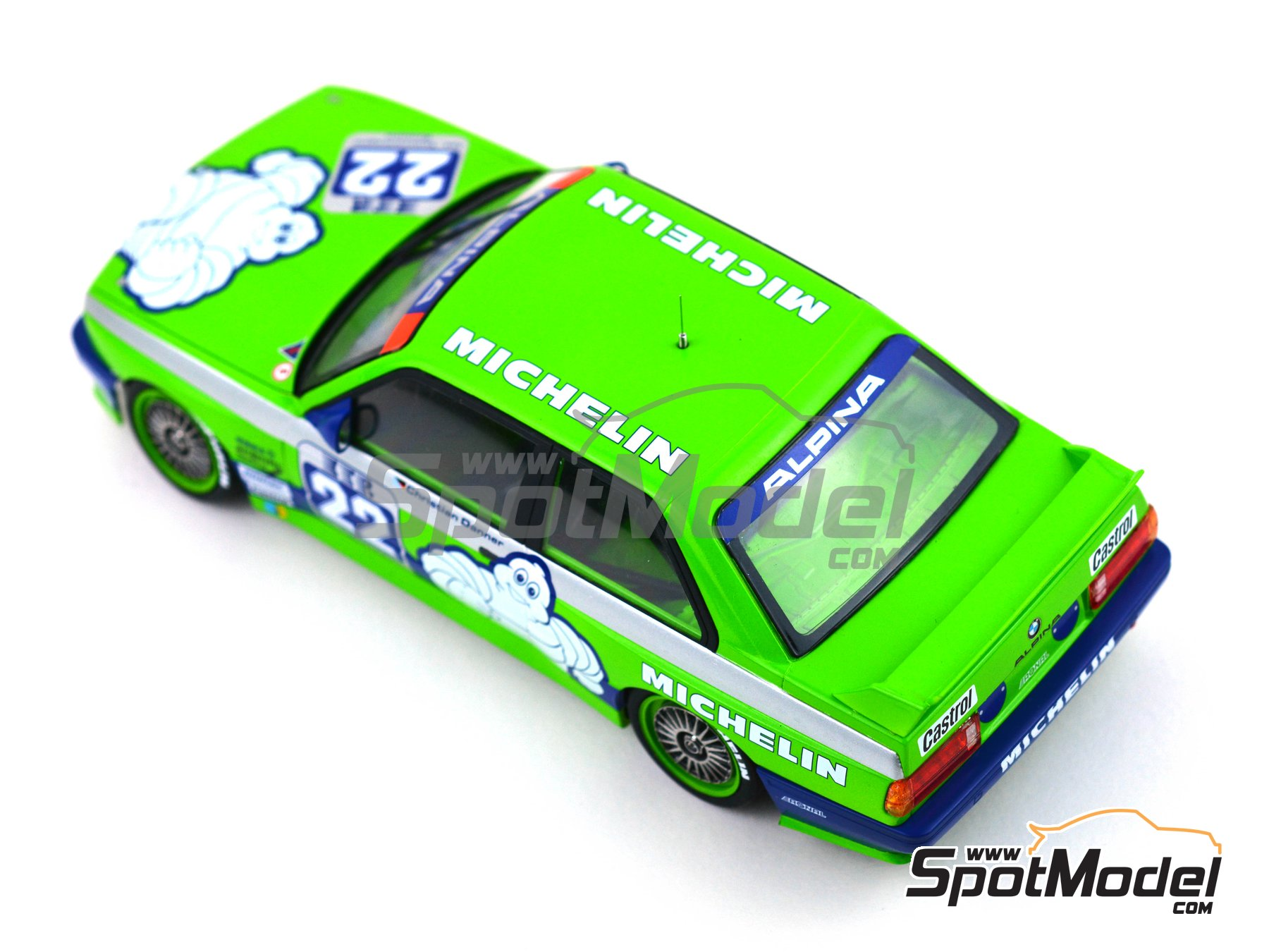 Image 6: BMW M3 E30 Team Alpina - DTM 1988 | Decoración en escala 1/24 fabricado por Decalcas (ref. DCL-DEC007)