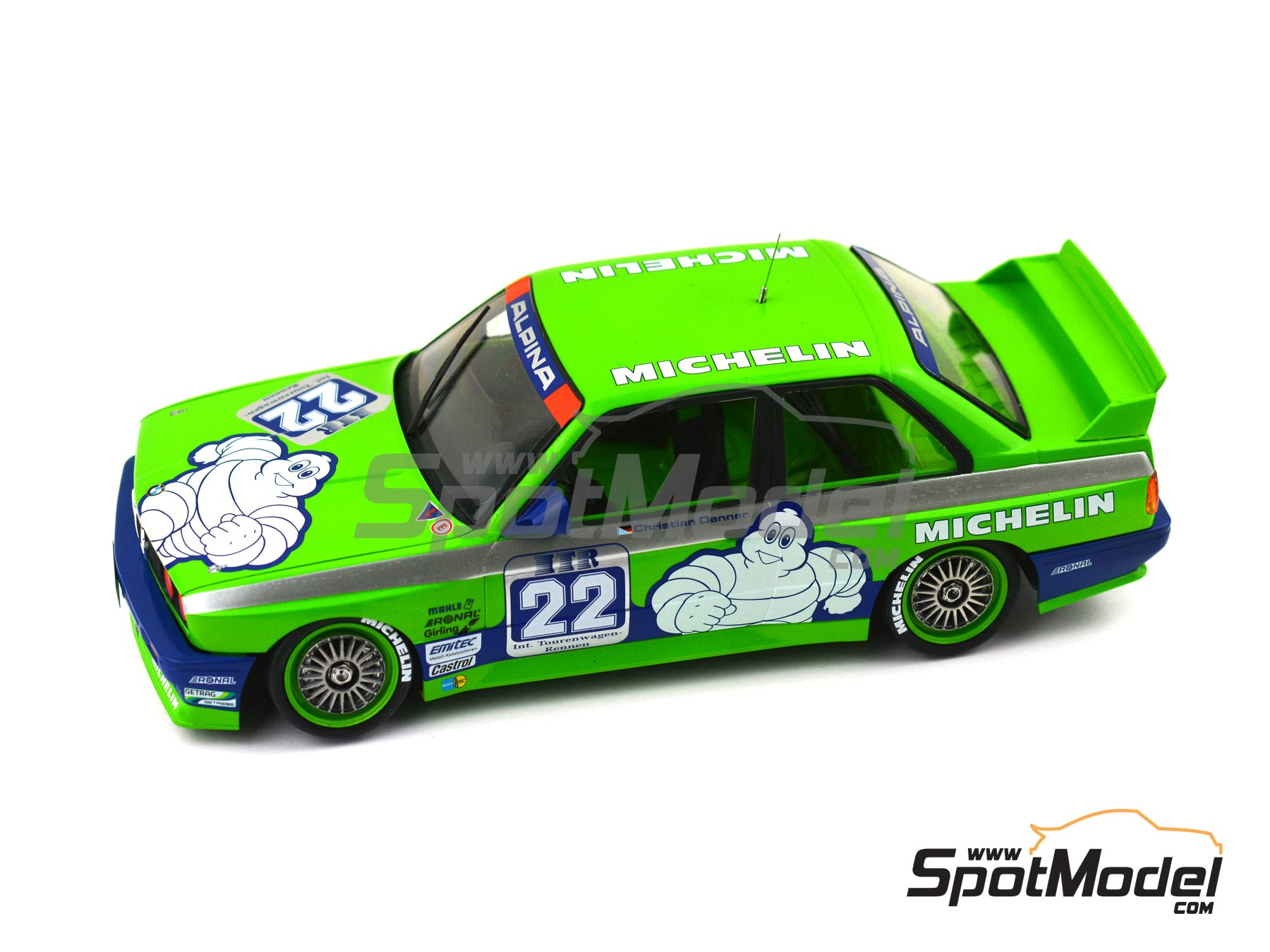 Image 7: BMW M3 E30 Team Alpina - DTM 1988 | Marking / livery in 1/24 scale manufactured by Decalcas (ref. DCL-DEC007)