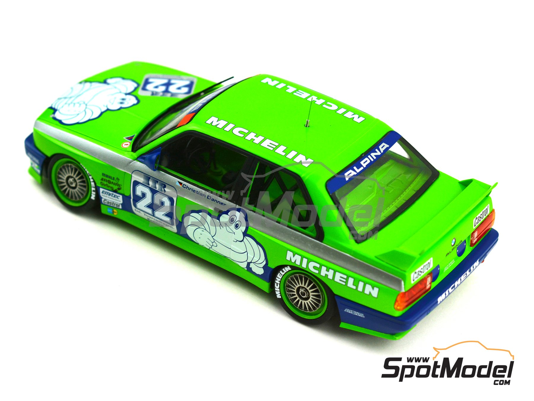 Image 9: BMW M3 E30 Team Alpina - DTM 1988 | Decoración en escala 1/24 fabricado por Decalcas (ref. DCL-DEC007)