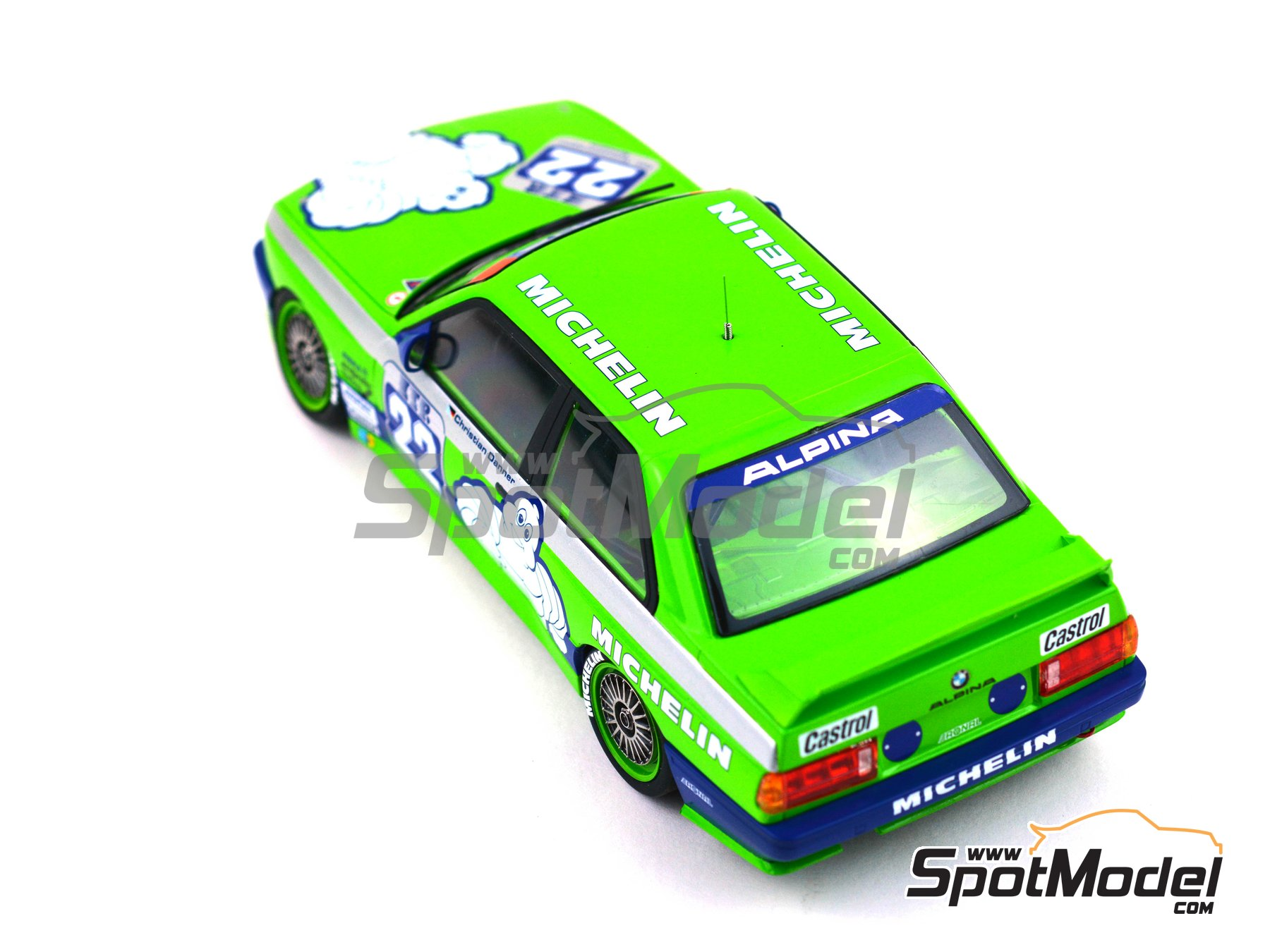 Image 10: BMW M3 E30 Team Alpina - DTM 1988 | Decoración en escala 1/24 fabricado por Decalcas (ref. DCL-DEC007)