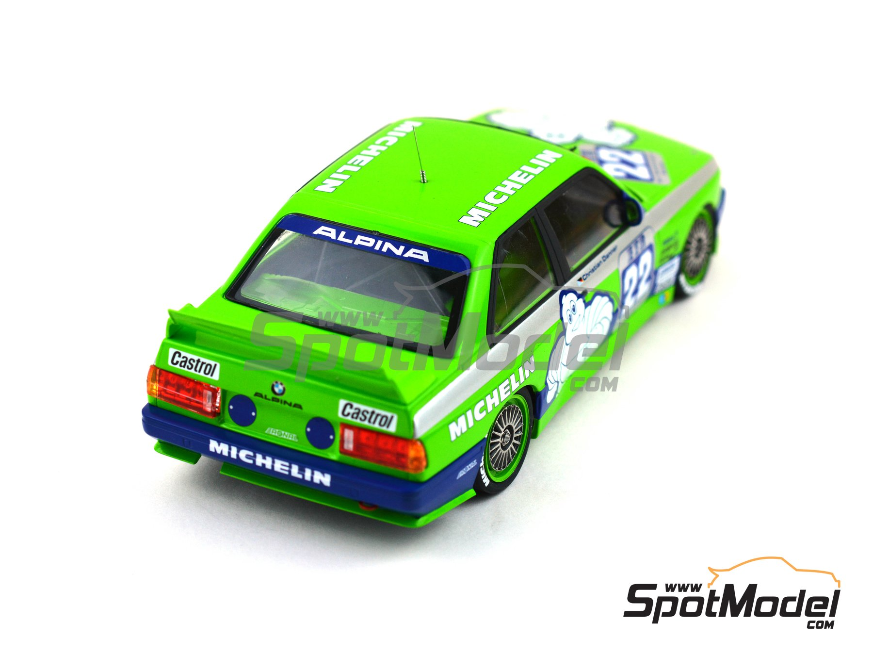 Image 11: BMW M3 E30 Team Alpina - DTM 1988 | Decoración en escala 1/24 fabricado por Decalcas (ref. DCL-DEC007)