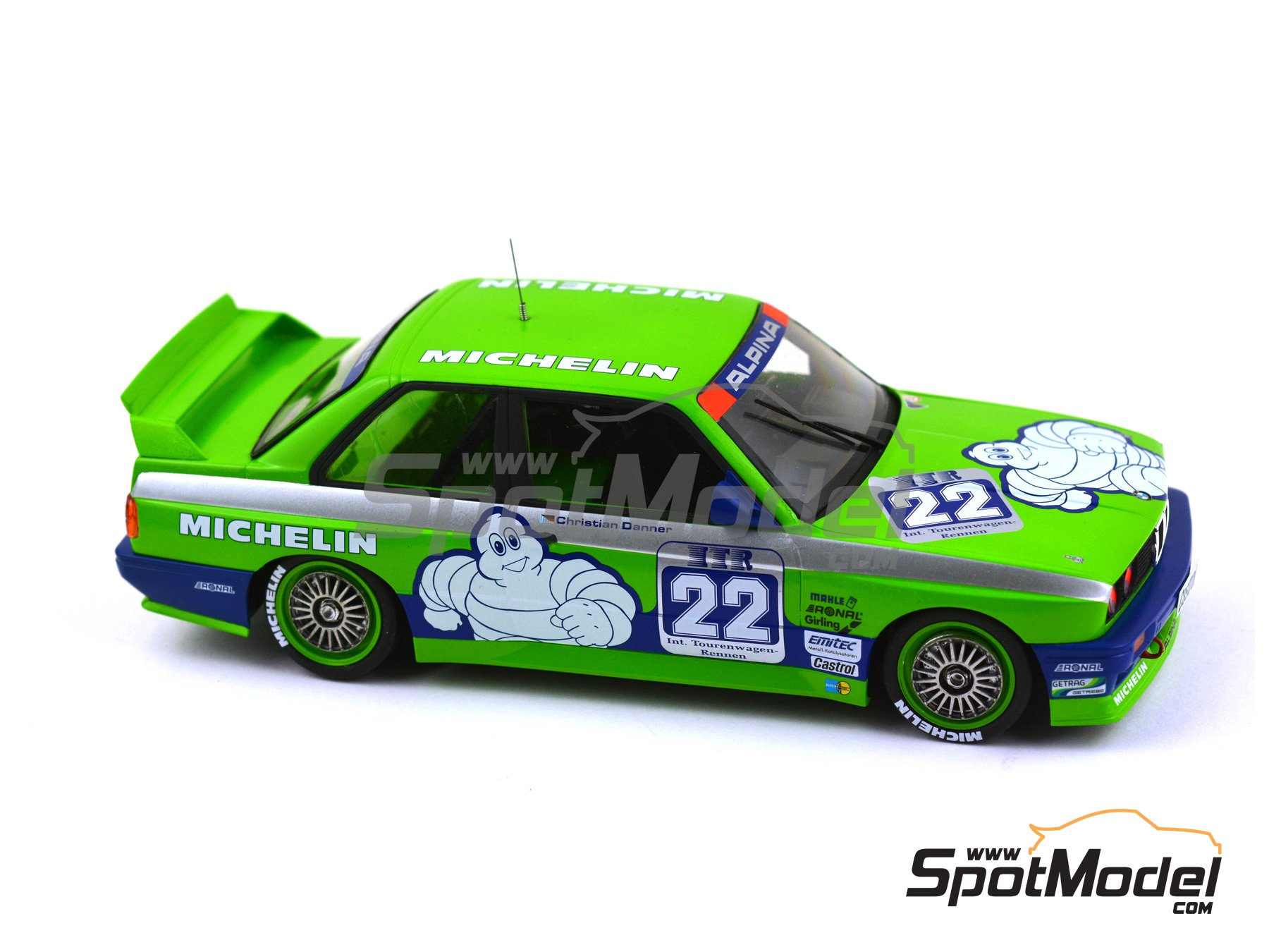 Image 12: BMW M3 E30 Team Alpina - DTM 1988 | Decoración en escala 1/24 fabricado por Decalcas (ref. DCL-DEC007)