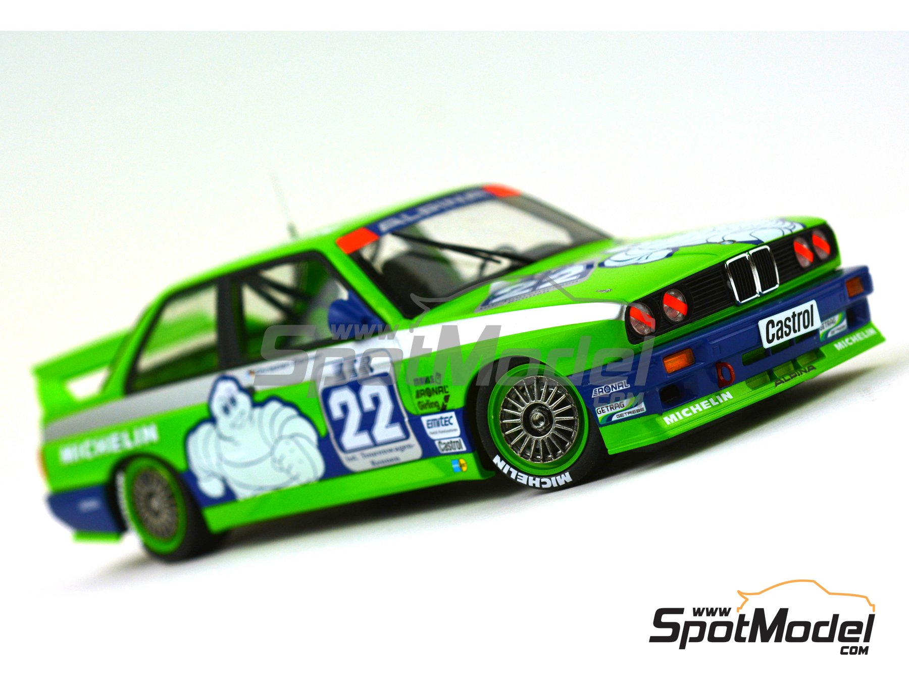 Image 13: BMW M3 E30 Team Alpina - DTM 1988 | Marking / livery in 1/24 scale manufactured by Decalcas (ref. DCL-DEC007)