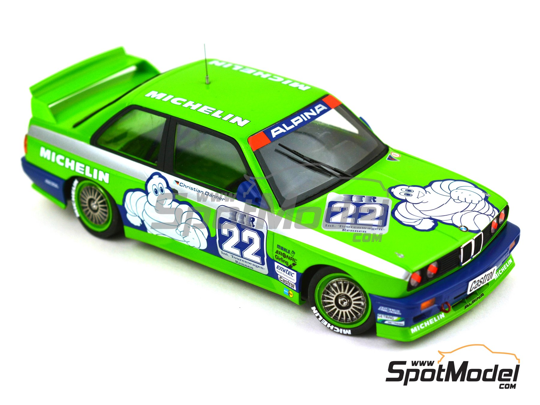 Image 14: BMW M3 E30 Team Alpina - DTM 1988 | Decoración en escala 1/24 fabricado por Decalcas (ref. DCL-DEC007)