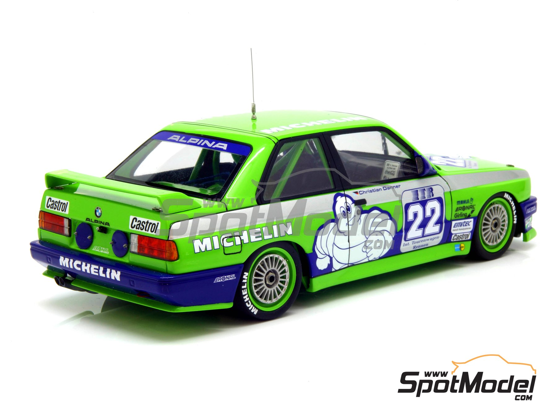 Image 18: BMW M3 E30 Team Alpina - DTM 1988 | Decoración en escala 1/24 fabricado por Decalcas (ref. DCL-DEC007)