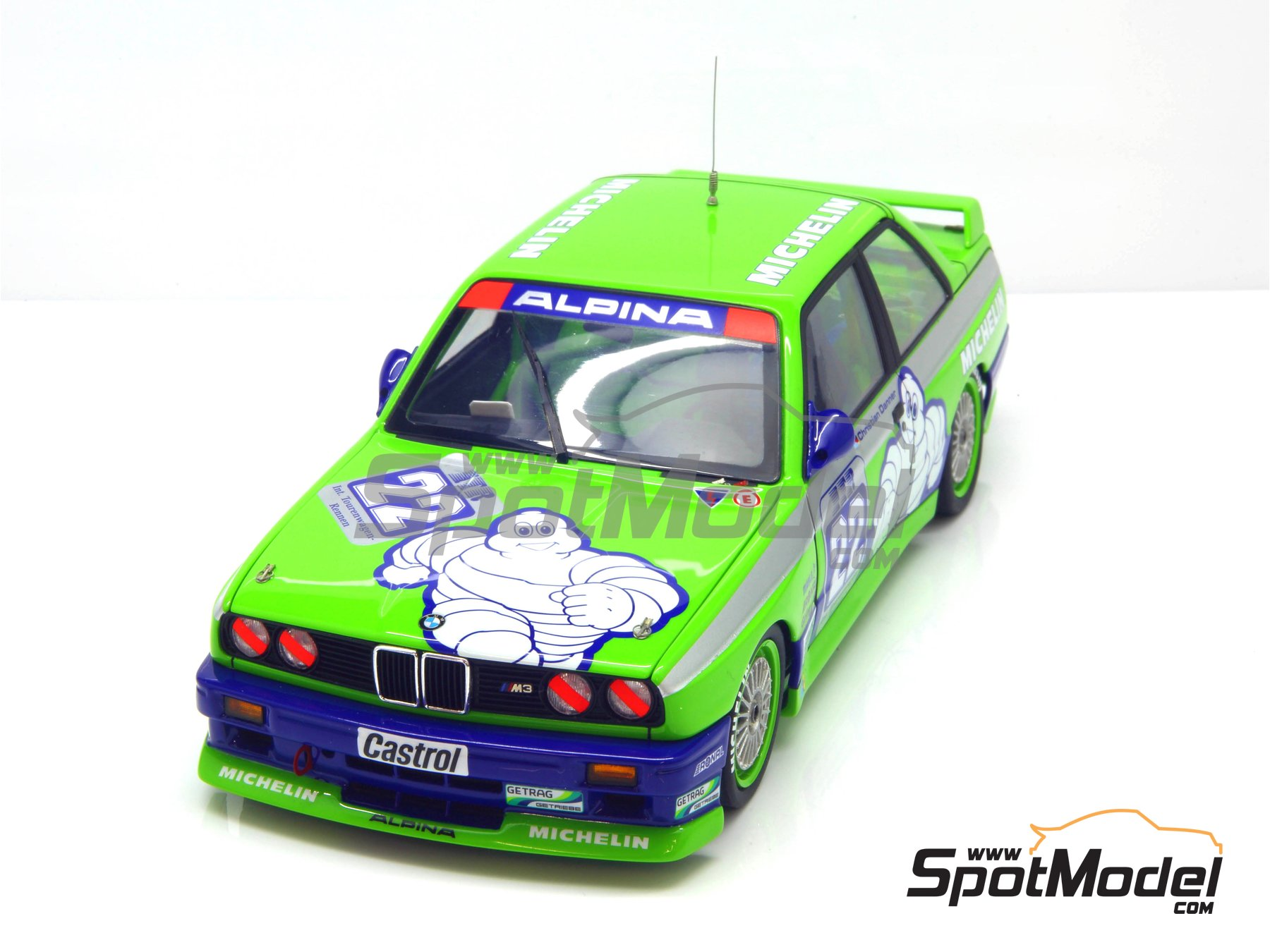 Image 20: BMW M3 E30 Team Alpina - DTM 1988 | Marking / livery in 1/24 scale manufactured by Decalcas (ref. DCL-DEC007)