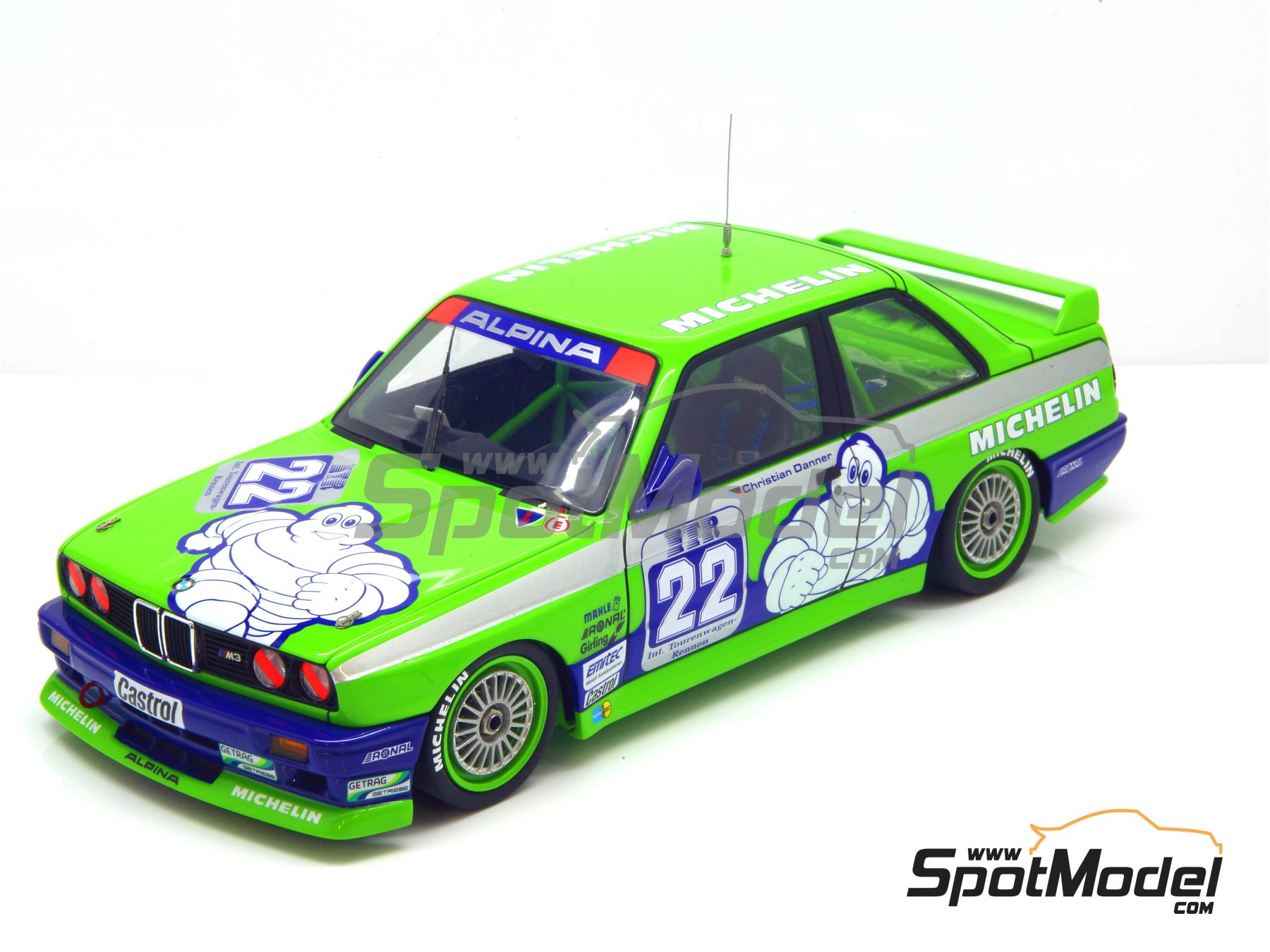 Image 21: BMW M3 E30 Team Alpina - DTM 1988 | Decoración en escala 1/24 fabricado por Decalcas (ref. DCL-DEC007)