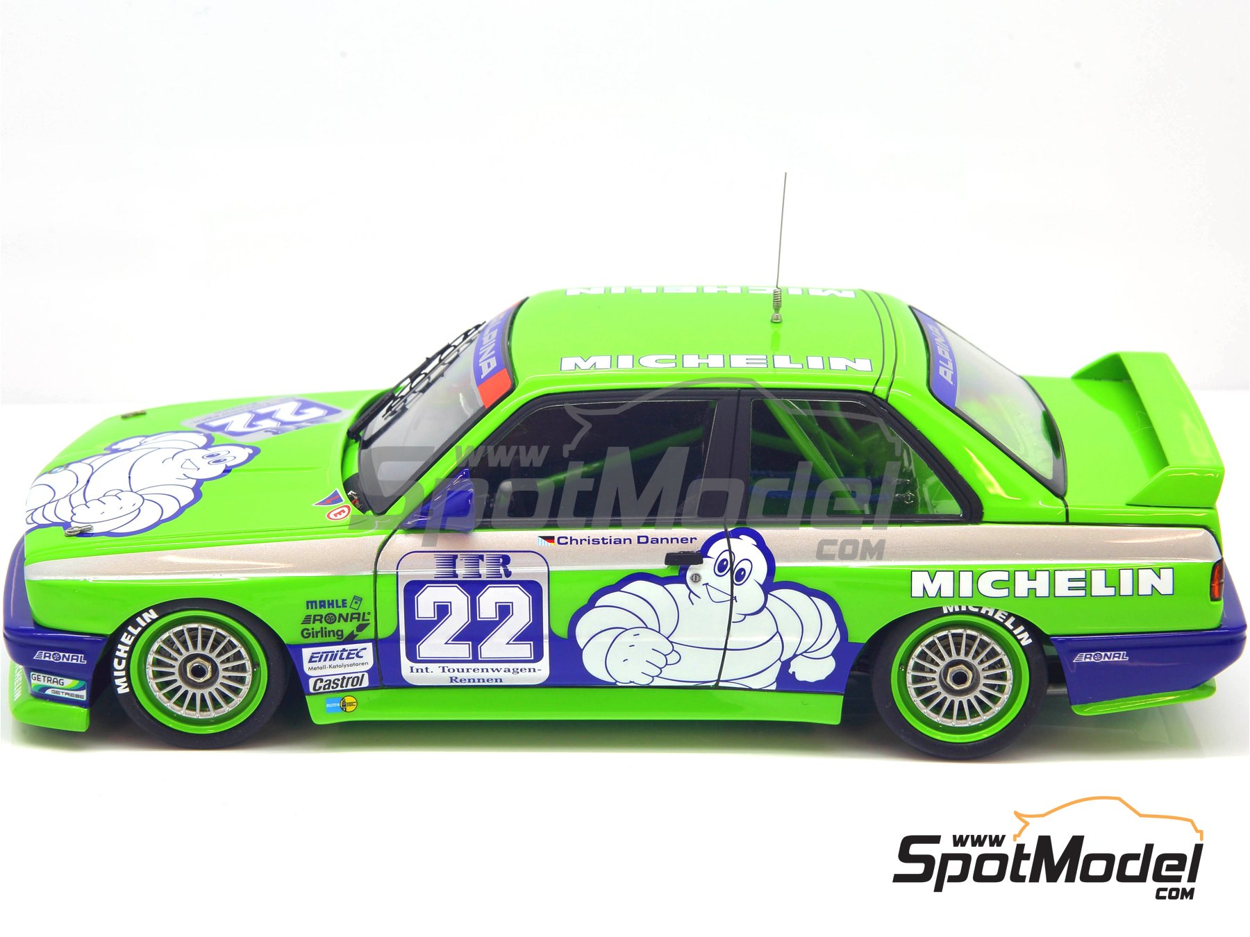 Image 22: BMW M3 E30 Team Alpina - DTM 1988 | Decoración en escala 1/24 fabricado por Decalcas (ref. DCL-DEC007)
