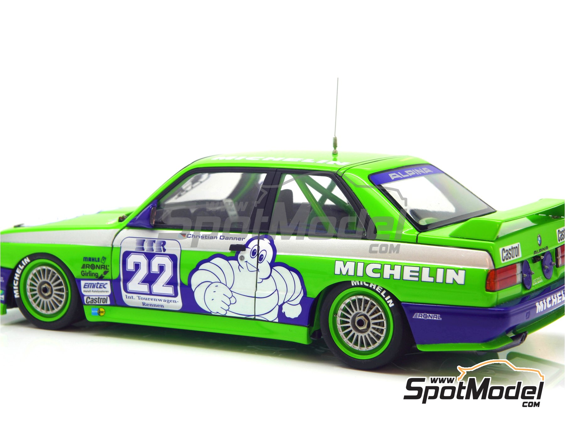 Image 24: BMW M3 E30 Team Alpina - DTM 1988 | Decoración en escala 1/24 fabricado por Decalcas (ref. DCL-DEC007)