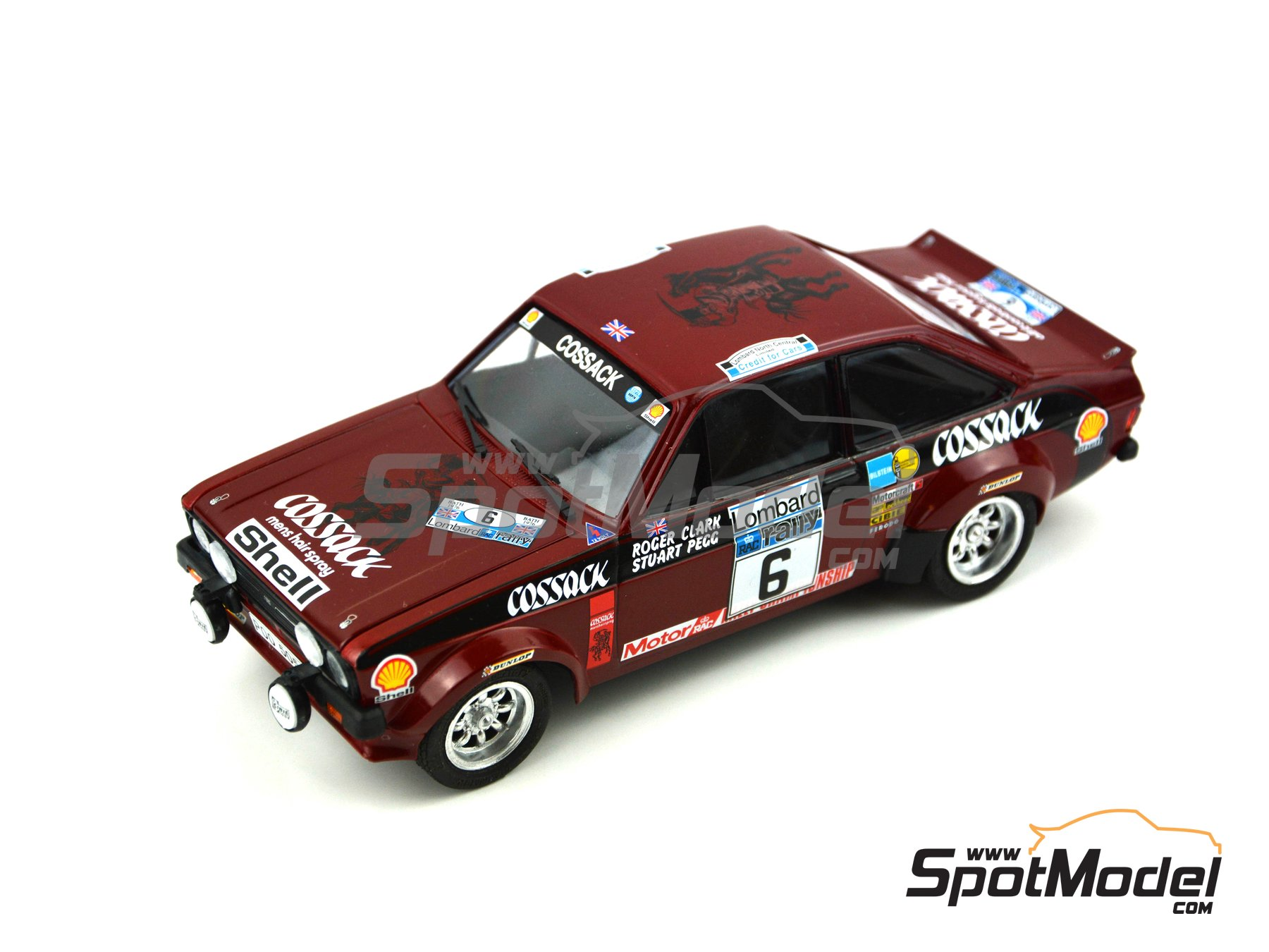 Image 6: Ford Escort Mk. II Cossack Ford Motor Co Ltd - Rally de Inglaterra RAC, Rally Internacional de Escocia, Rally Belfast Telegraph Ulster 1976 | Decoración en escala 1/24 fabricado por Decalcas (ref. DCL-DEC008)
