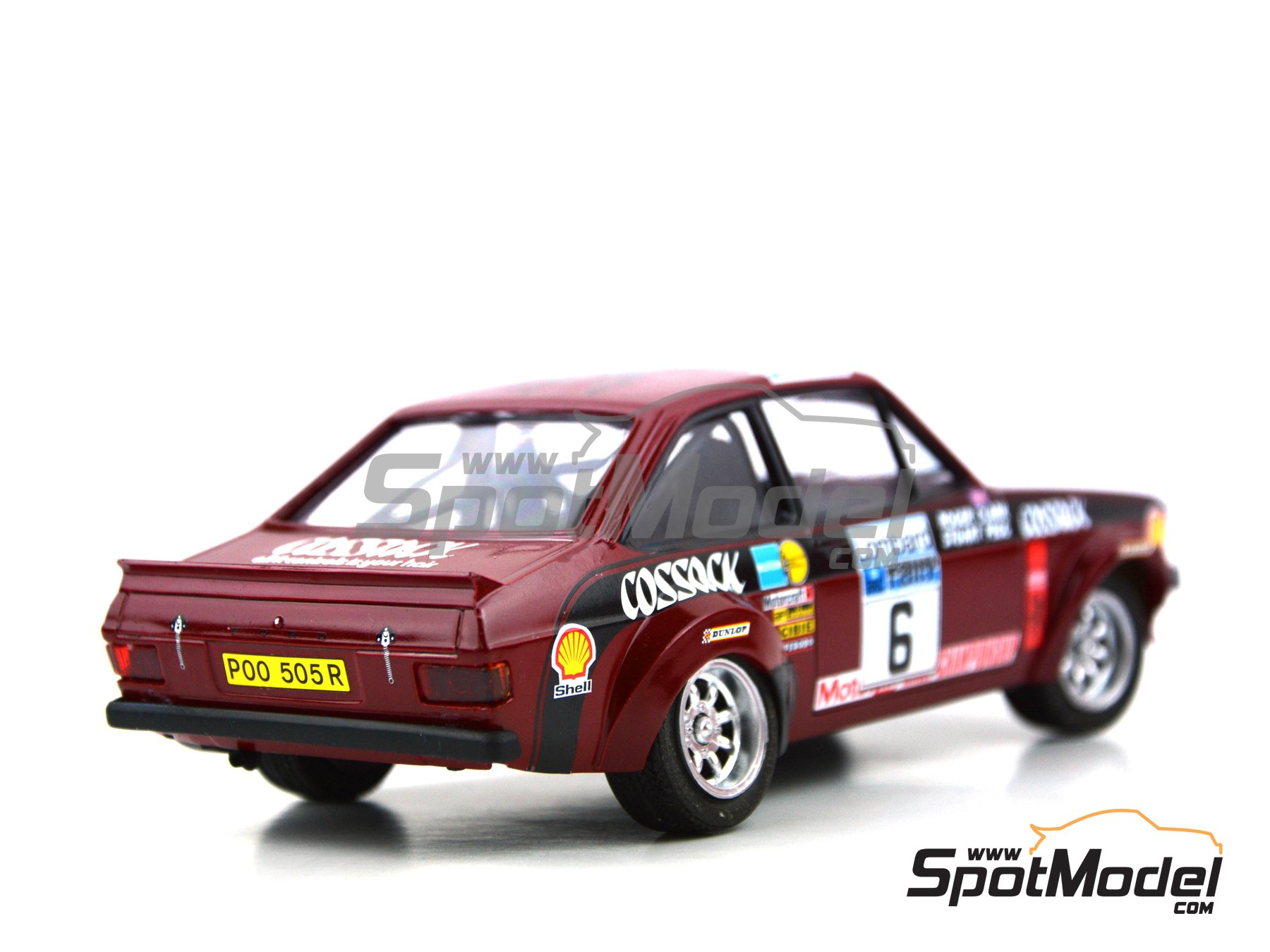 Image 7: Ford Escort Mk. II Cossack Ford Motor Co Ltd - Rally de Inglaterra RAC, Rally Internacional de Escocia, Rally Belfast Telegraph Ulster 1976 | Decoración en escala 1/24 fabricado por Decalcas (ref. DCL-DEC008)