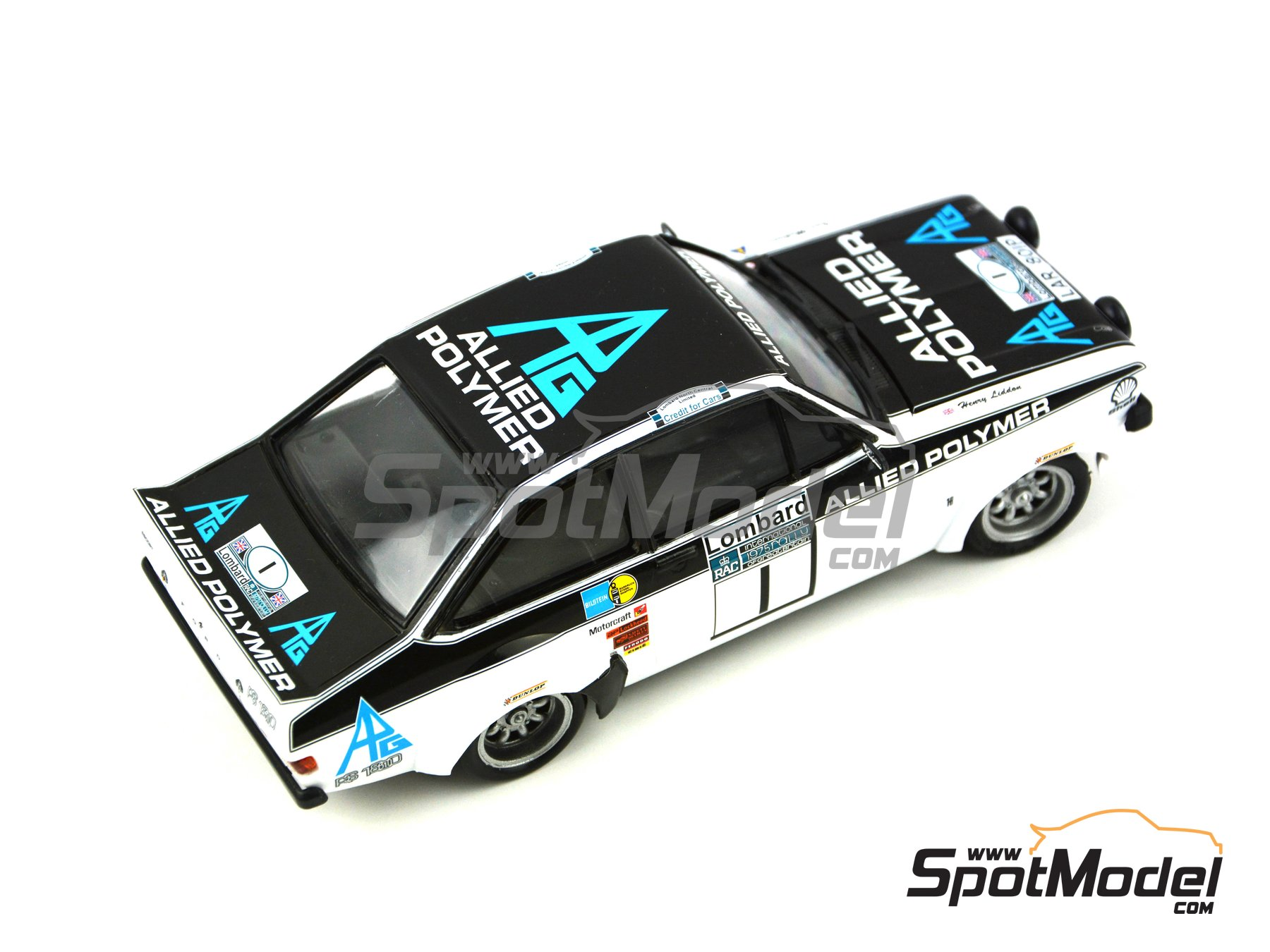 Image 2: Ford Escort Mk. II RS 1800 Allied Polymer Group - Great Britain RAC Rally 1975 | Marking / livery in 1/24 scale manufactured by Decalcas (ref.DCL-DEC009)