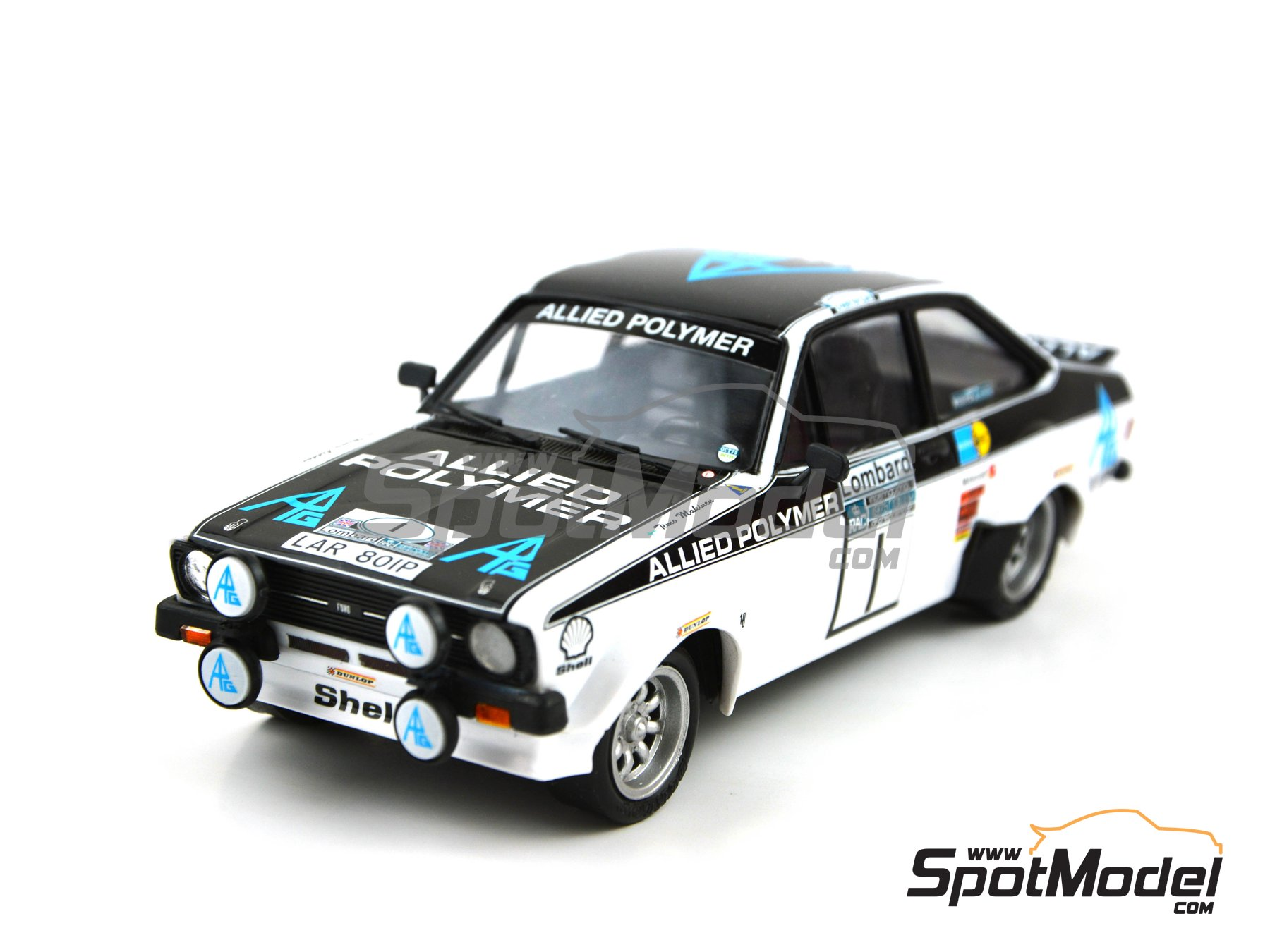 Image 5: Ford Escort Mk. II RS 1800 Allied Polymer Group - RAC Rally 1975 | Marking / livery in 1/24 scale manufactured by Decalcas (ref. DCL-DEC009)