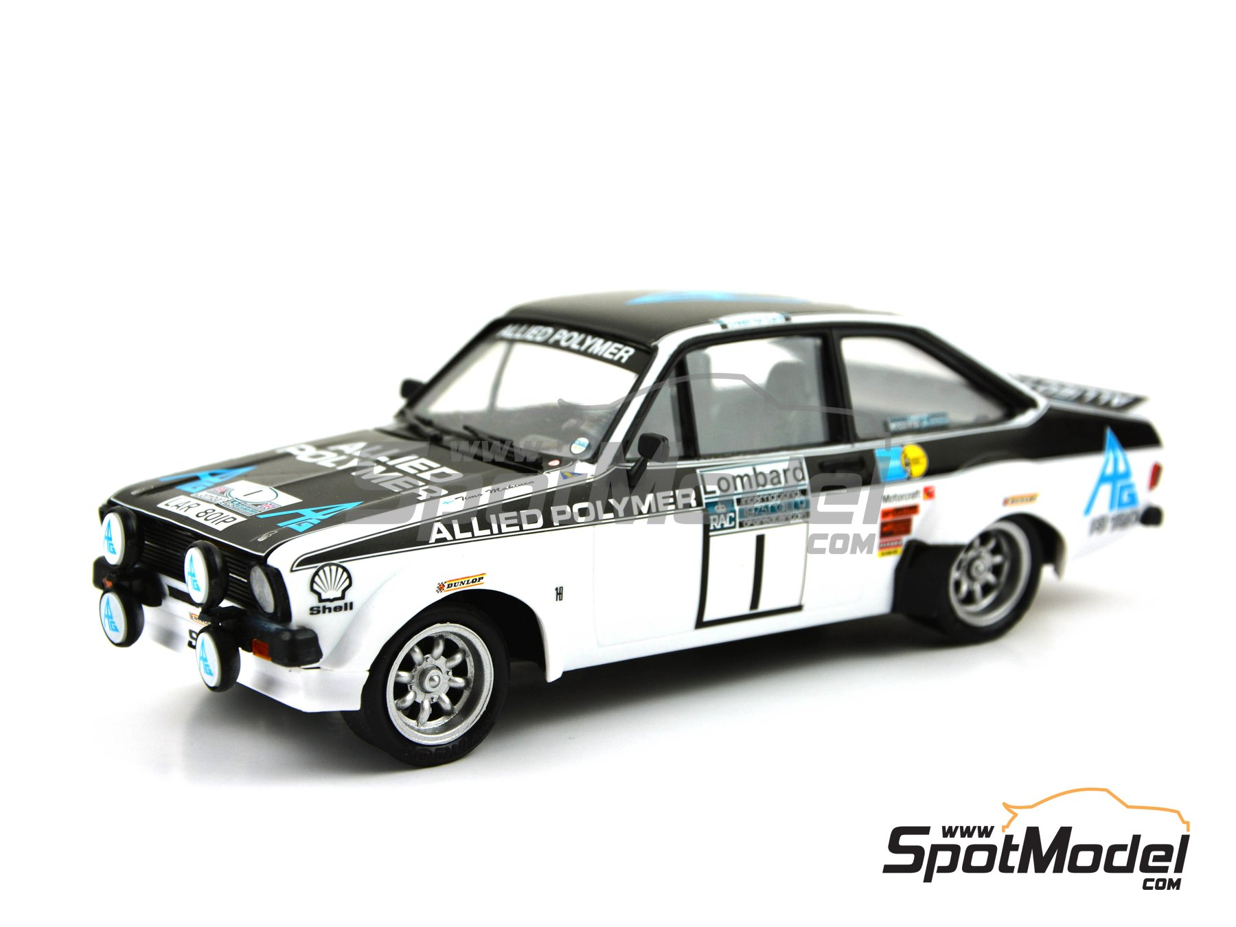 Image 6: Ford Escort Mk. II RS 1800 Allied Polymer Group - Great Britain RAC Rally 1975 | Marking / livery in 1/24 scale manufactured by Decalcas (ref. DCL-DEC009)