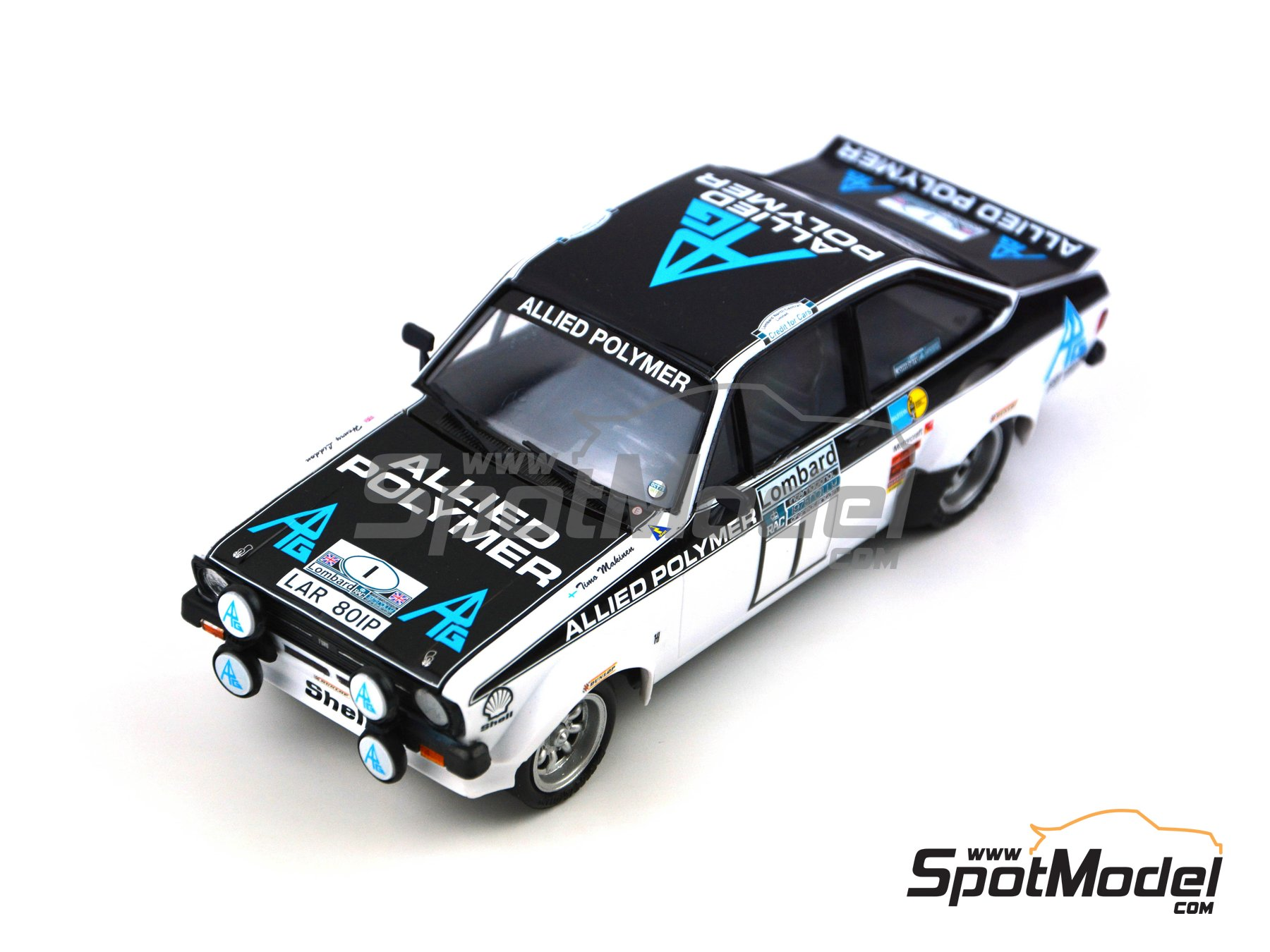 Image 8: Ford Escort Mk. II RS 1800 Allied Polymer Group - Great Britain RAC Rally 1975 | Marking / livery in 1/24 scale manufactured by Decalcas (ref. DCL-DEC009)