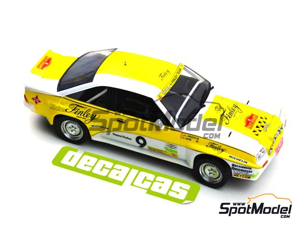 Image 6: Opel Manta 400 Group B Opel Finley Team - Rallye Catalunya 1984 | Marking / livery in 1/24 scale manufactured by Decalcas (ref. DCL-DEC011)