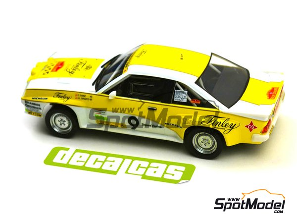 Image 7: Opel Manta 400 Group B Opel Finley Team - Rallye Catalunya 1984 | Marking / livery in 1/24 scale manufactured by Decalcas (ref. DCL-DEC011)