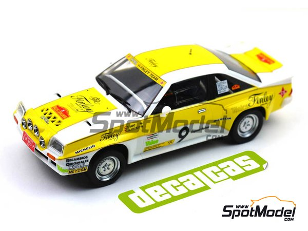 Image 8: Opel Manta 400 Group B Opel Finley Team - Rallye Catalunya 1984 | Marking / livery in 1/24 scale manufactured by Decalcas (ref. DCL-DEC011)