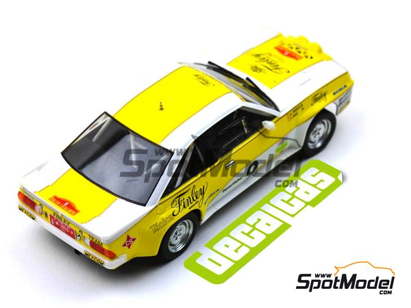 Image 9: Opel Manta 400 Group B Opel Finley Team - Rallye Catalunya 1984 | Marking / livery in 1/24 scale manufactured by Decalcas (ref. DCL-DEC011)