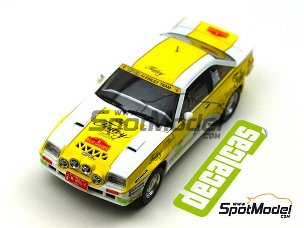 Image 10: Opel Manta 400 Grupo B Opel Finley Team - Rally Cataluña 1984 | Decoración en escala 1/24 fabricado por Decalcas (ref. DCL-DEC011)