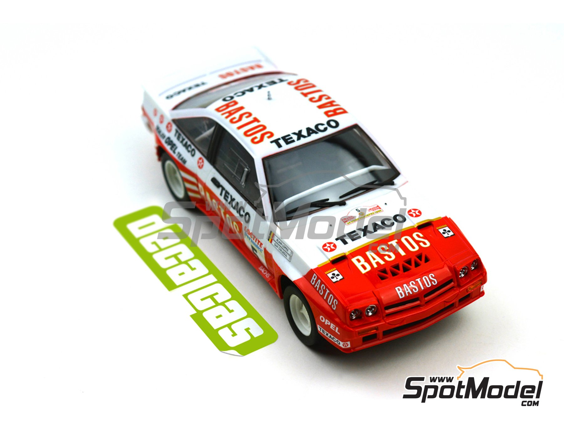 Image 7: Opel Manta 400 Group B Bastos Texaco Rally Team - 24 Hours de Ypres Rally, Condroz Rally, Haspengow Rally 1985 | Marking / livery in 1/24 scale manufactured by Decalcas (ref. DCL-DEC012)