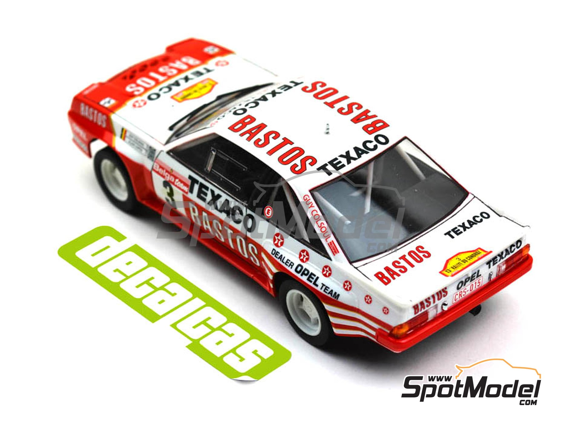 Image 6: Opel Manta 400 Group B Bastos Texaco Rally Team - 24 Hours de Ypres Rally, Condroz Rally, Haspengow Rally 1986 | Marking / livery in 1/24 scale manufactured by Decalcas (ref. DCL-DEC013)