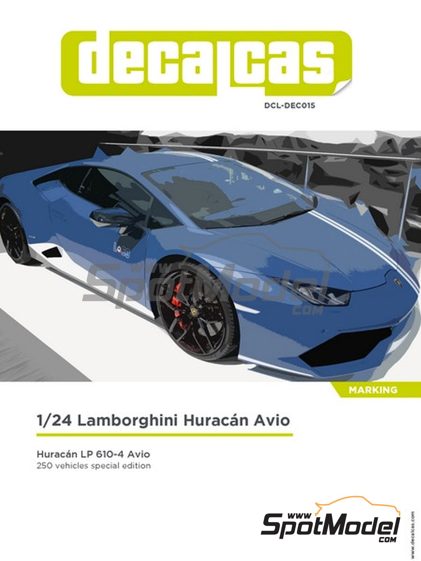 Lamborghini Huracán LP 610-4 Avio | Marking / livery in 1/24 scale manufactured by Decalcas (ref. DCL-DEC015) image