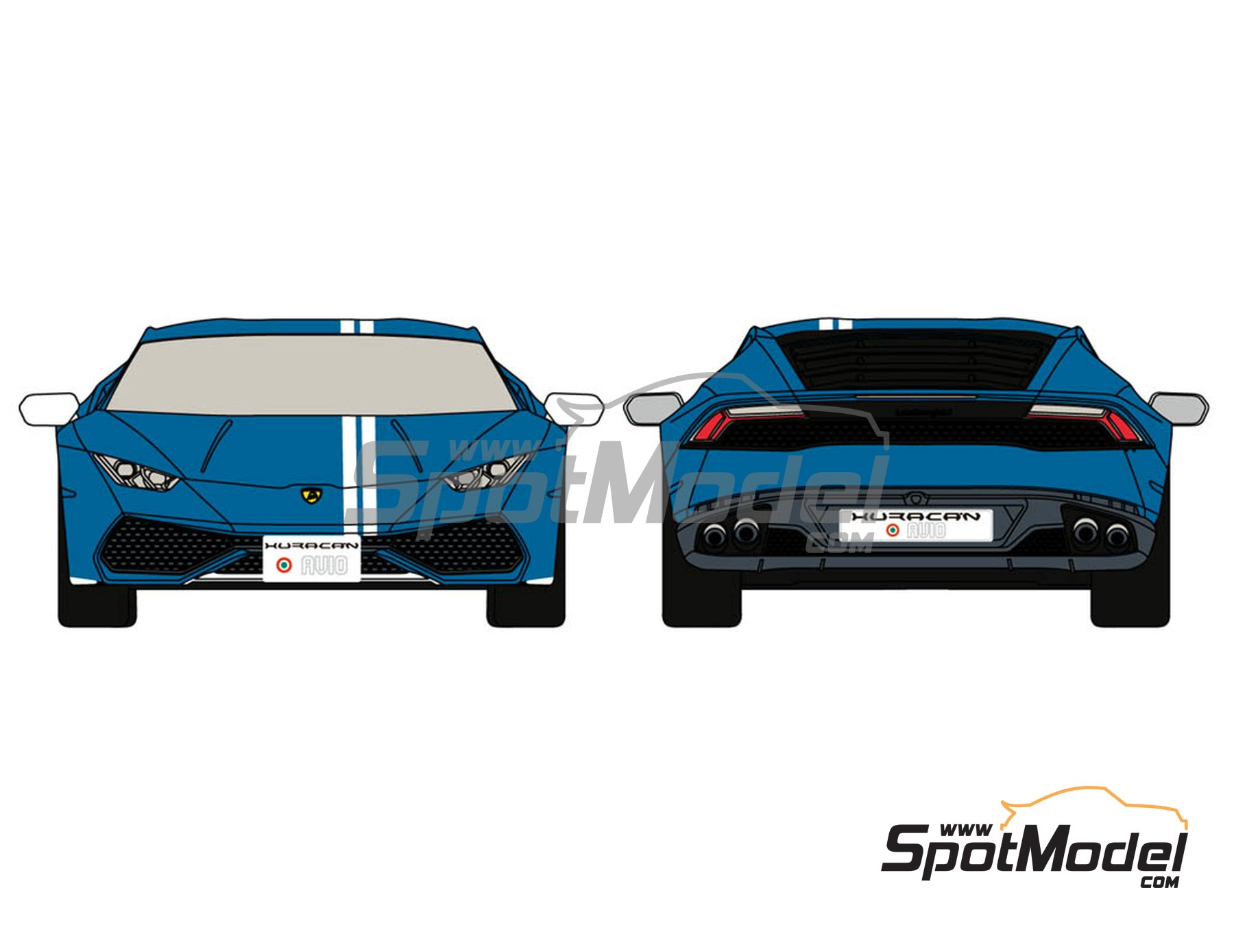Image 1: Lamborghini Huracán LP 610-4 Avio | Marking / livery in 1/24 scale manufactured by Decalcas (ref.DCL-DEC015)