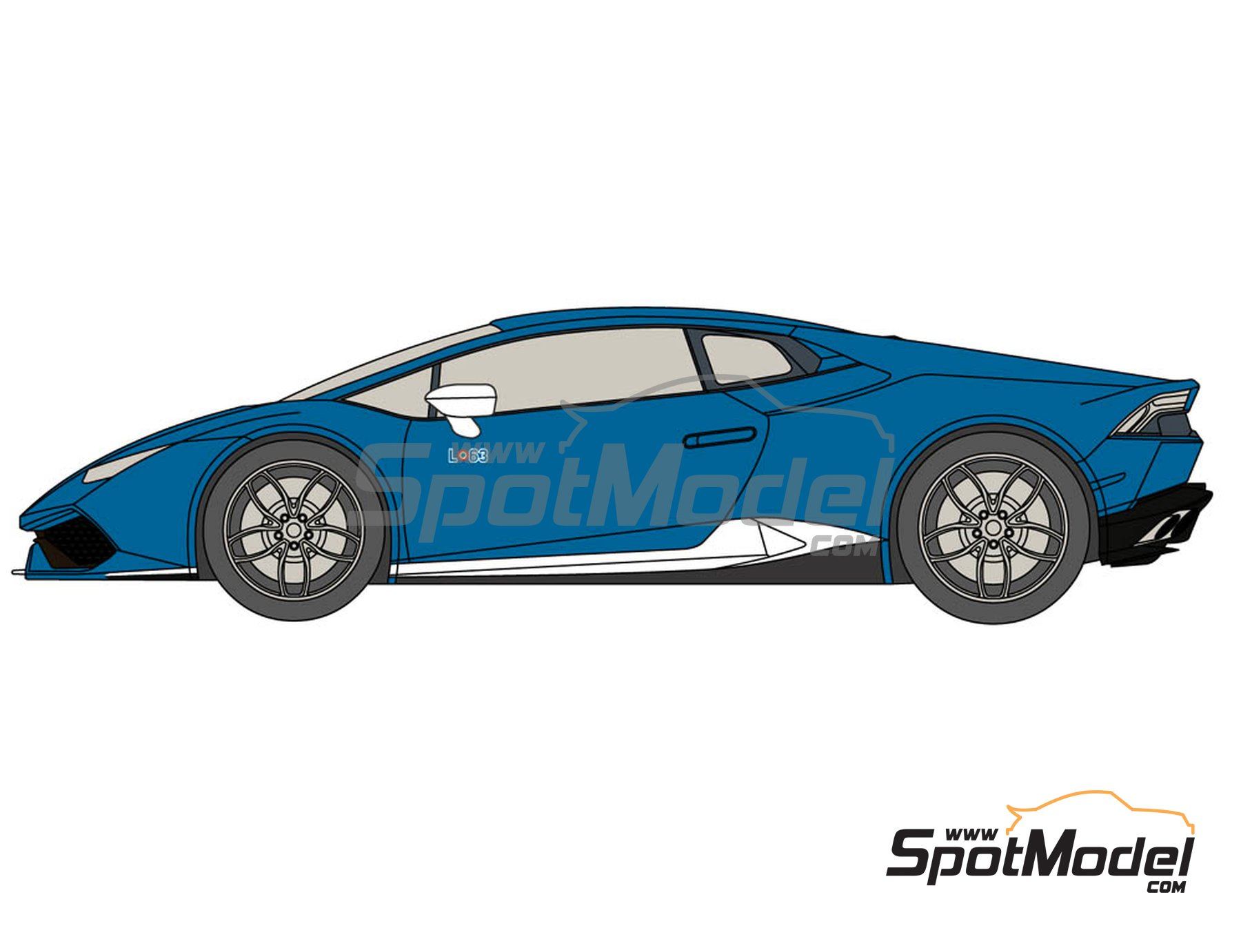 Image 2: Lamborghini Huracán LP 610-4 Avio | Marking / livery in 1/24 scale manufactured by Decalcas (ref.DCL-DEC015)