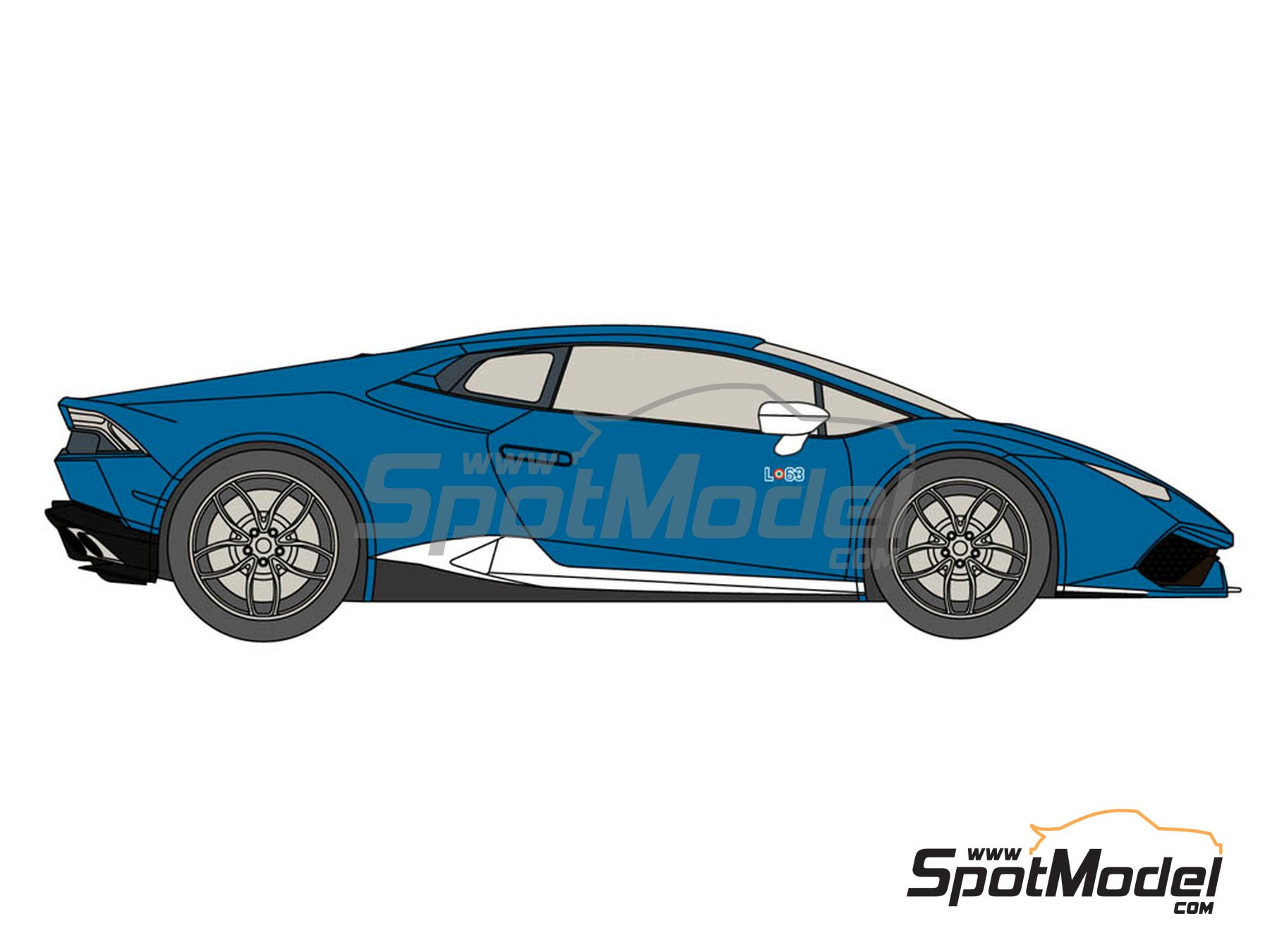Image 3: Lamborghini Huracán LP 610-4 Avio | Marking / livery in 1/24 scale manufactured by Decalcas (ref.DCL-DEC015)