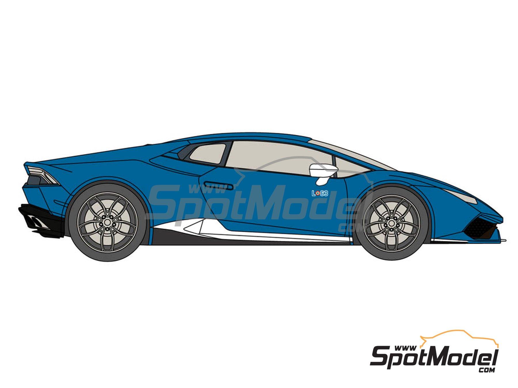 Image 3: Lamborghini Huracán LP 610-4 Avio | Decoración en escala1/24 fabricado por Decalcas (ref.DCL-DEC015)