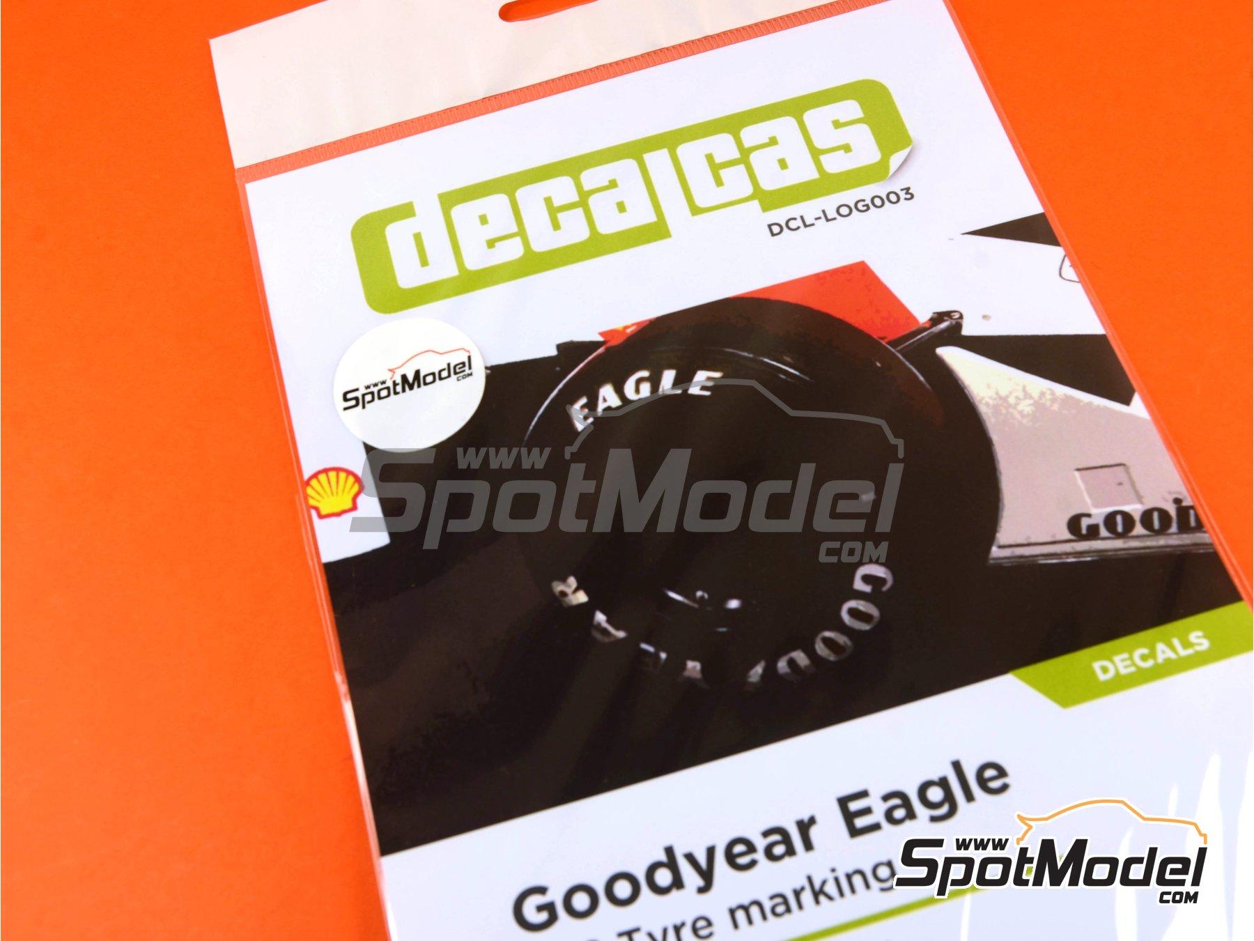 Image 1: Goodyear logos -  1980, 1981, 1982, 1983, 1984, 1985, 1986, 1987, 1988 y 1989 | Logotipos en escala1/12 fabricado por Decalcas (ref.DCL-LOG003)