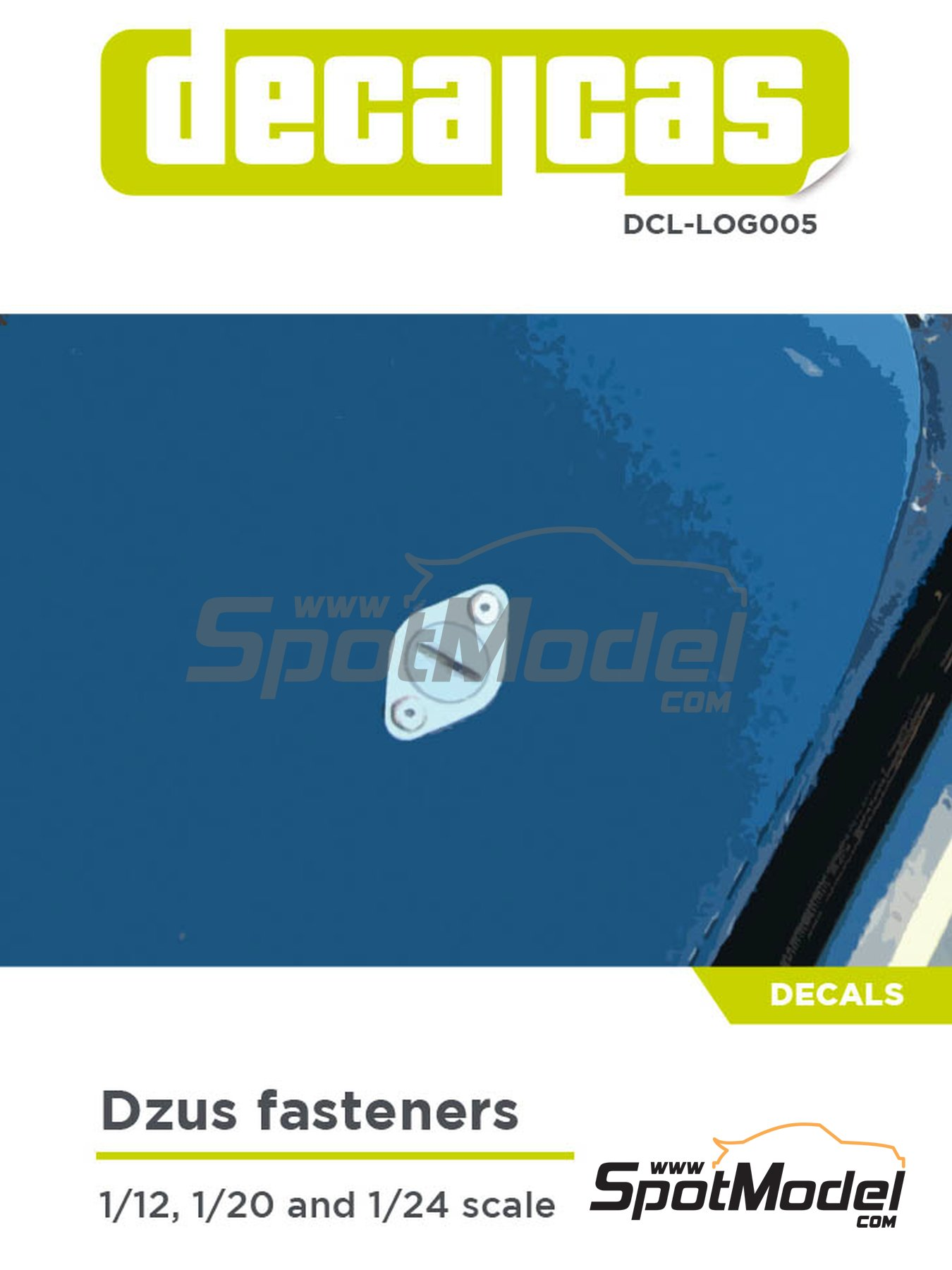 Dzus fasteners 1/12 1/20 1/24 | Decals manufactured by Decalcas (ref. DCL-LOG005) image