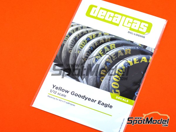 Image 6: Good Year Eagle tyre marking set | Logotypes in 1/12 scale manufactured by Decalcas (ref. DCL-LOG006)