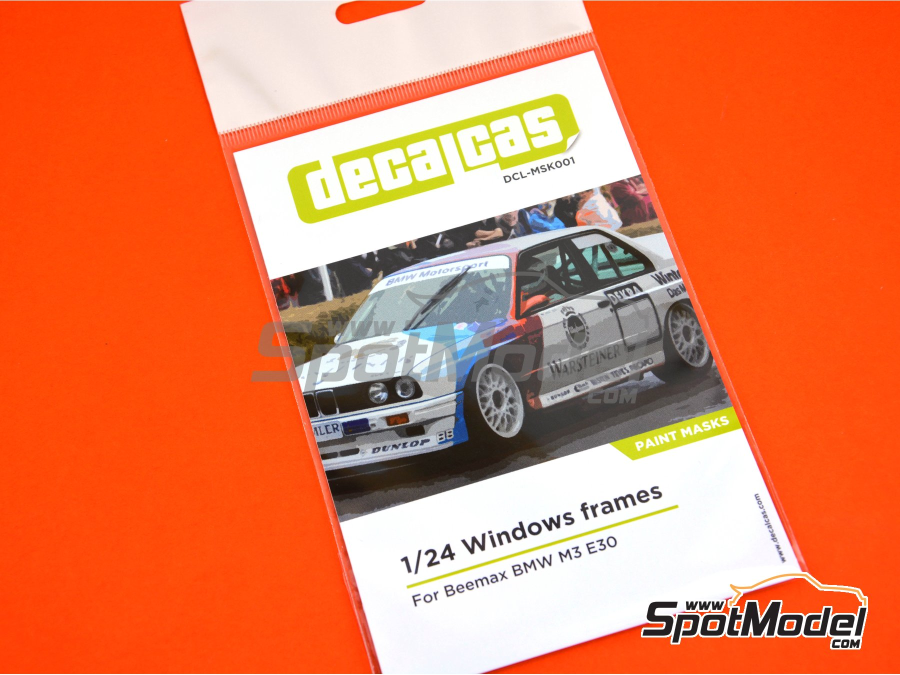 Image 3: BMW M3 E30 | Window frame paint masks in 1/24 scale manufactured by Decalcas (ref. DCL-MSK001)
