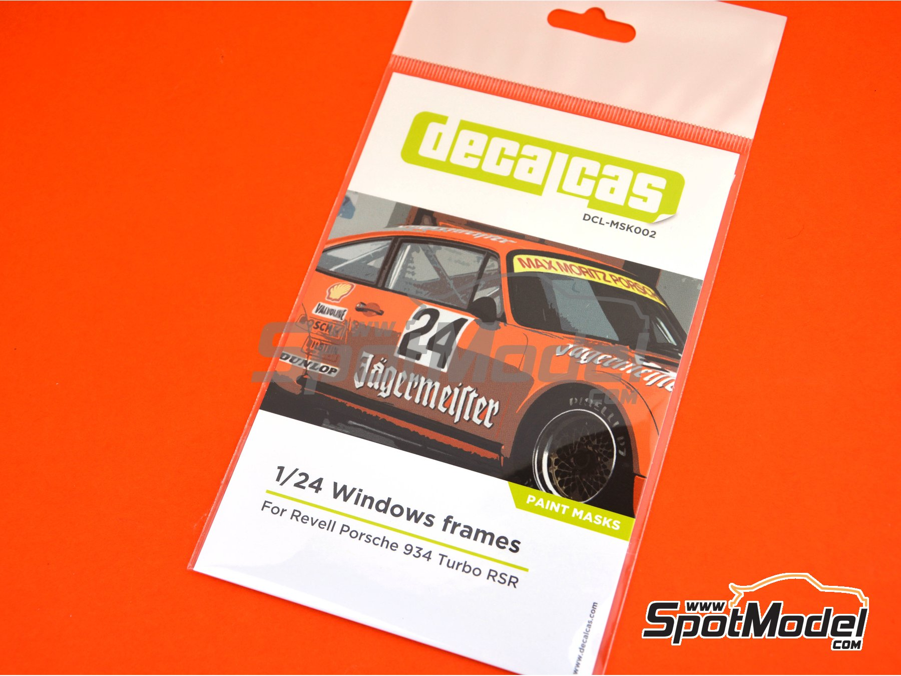 Image 4: Porsche 934 Turbo RSR Group 4 | Window frame paint masks in 1/24 scale manufactured by Decalcas (ref. DCL-MSK002)