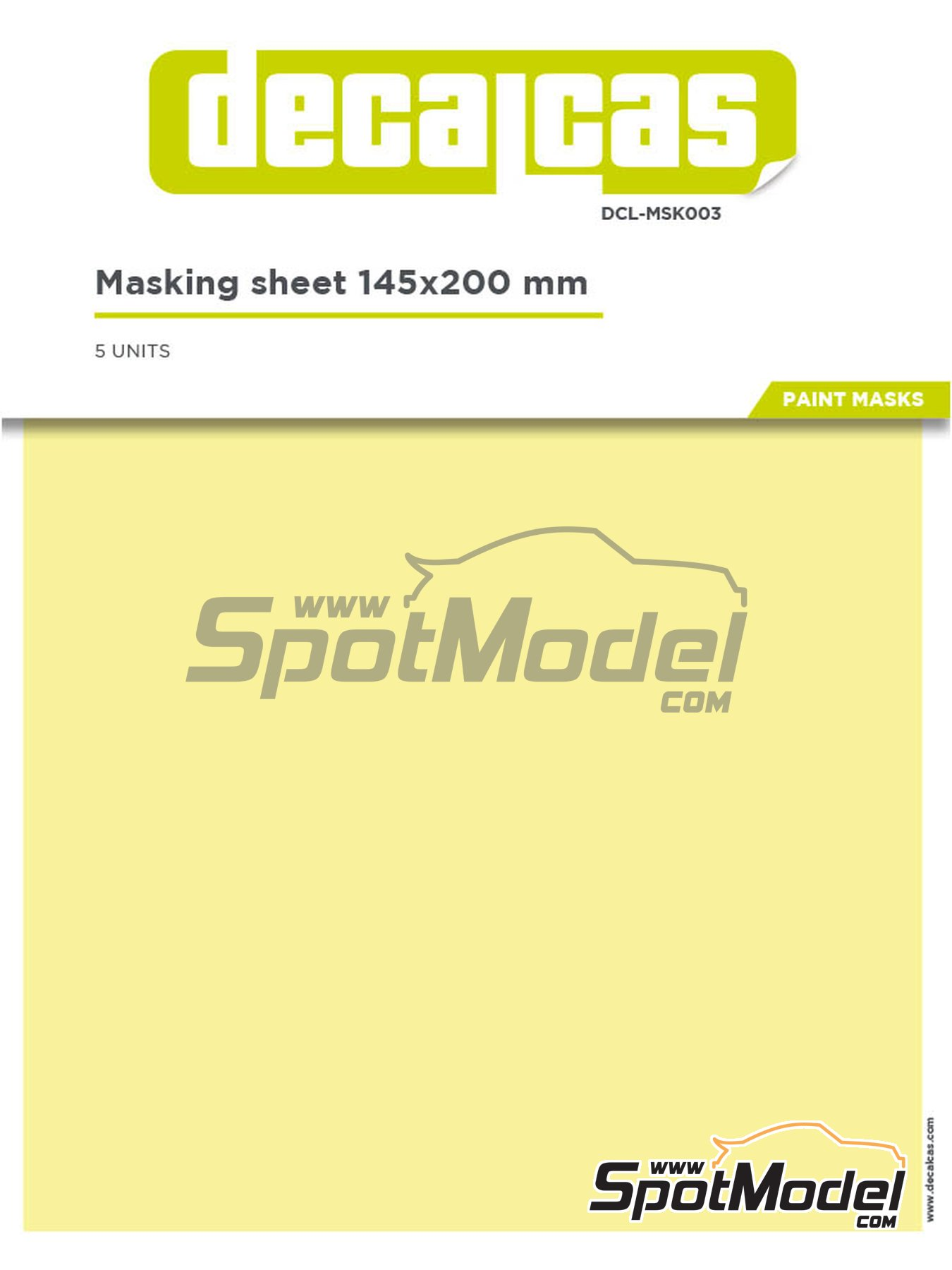 Masking sheets 145 x 200 mm | Masks manufactured by Decalcas (ref. DCL-MSK003) image