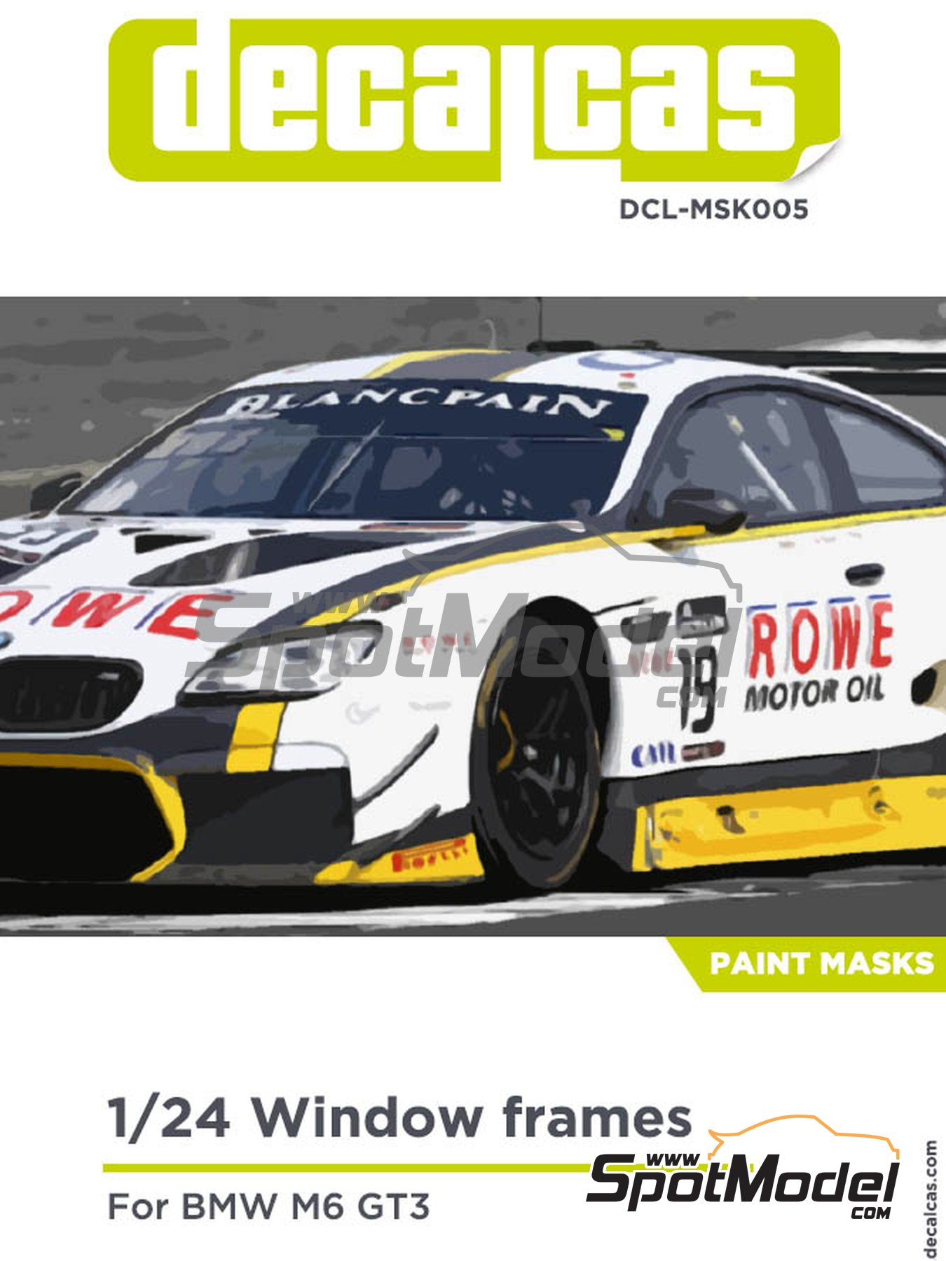 BMW M6 GT3 | Masks in 1/24 scale manufactured by Decalcas (ref. DCL-MSK005) image