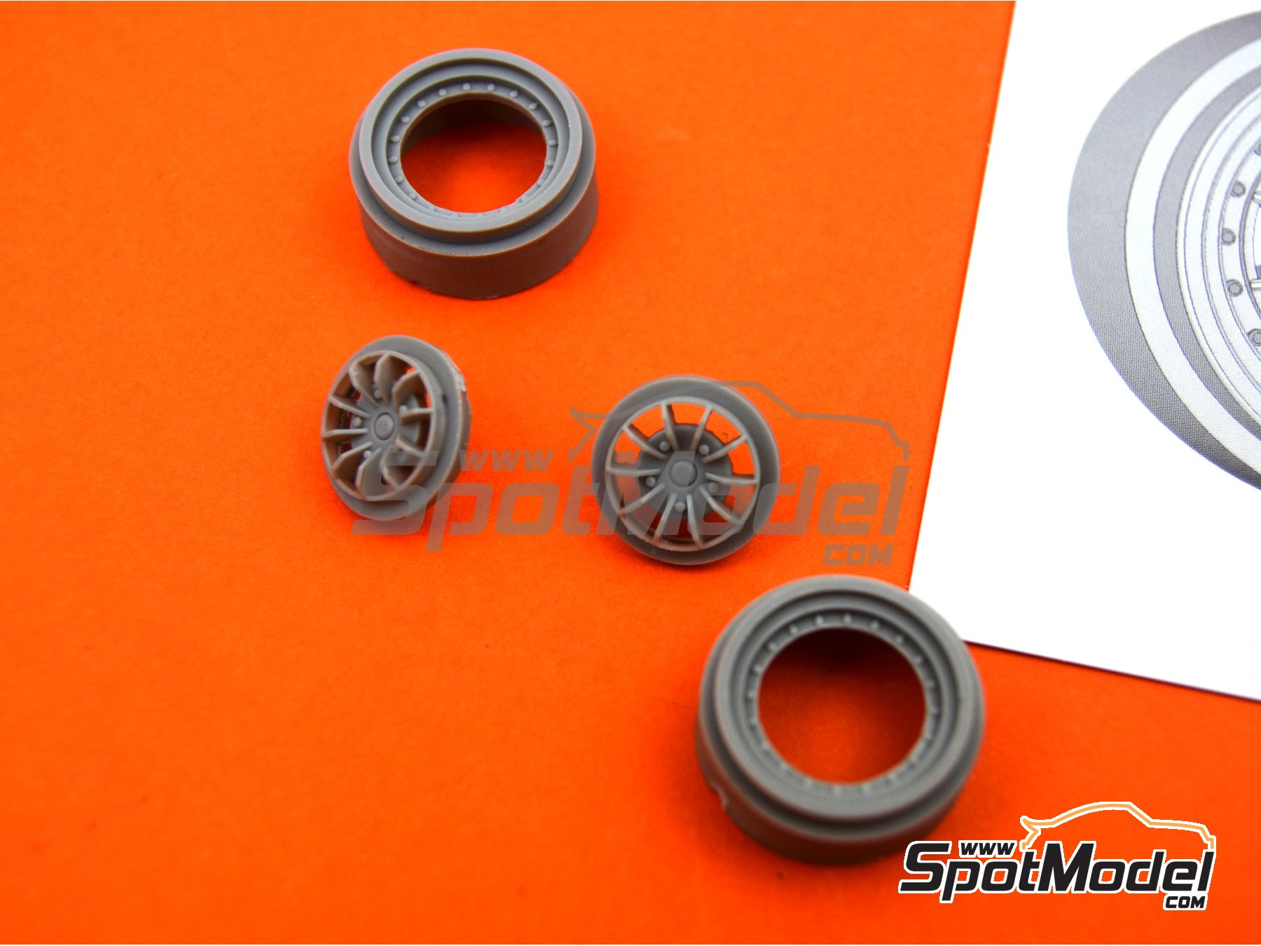 Image 7: Braid Serie 1 D155 16 inches | Rims in 1/24 scale manufactured by Decalcas (ref.DCL-PAR001)