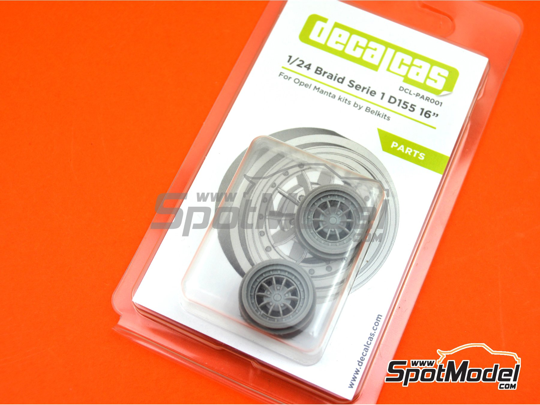 Image 10: Braid Serie 1 D155 16 inches   Rims in 1/24 scale manufactured by Decalcas (ref.DCL-PAR001)