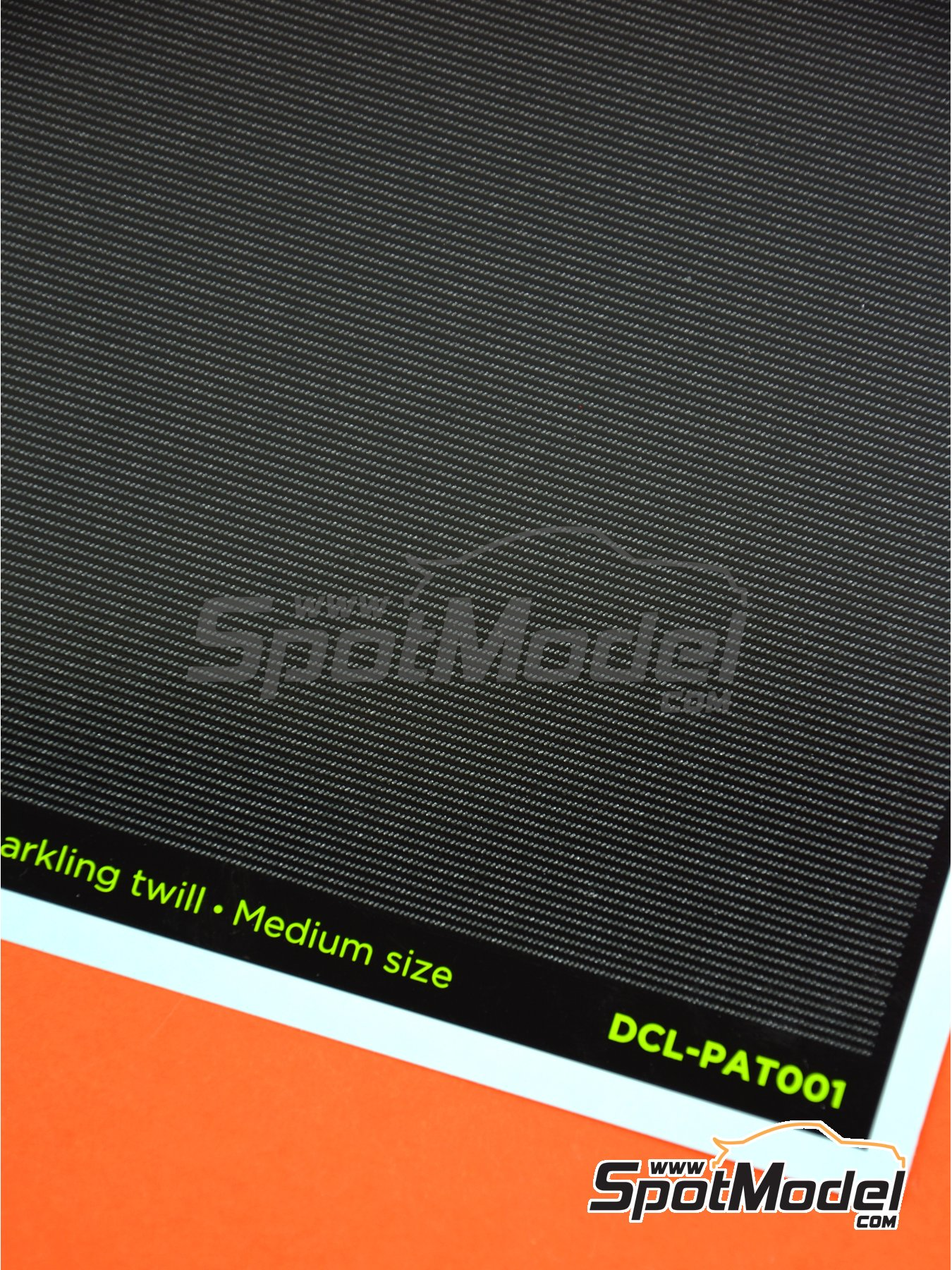Carbon fiber sparkling twill medium size | Decals in 1/12 scale manufactured by Decalcas (ref. DCL-PAT001) image