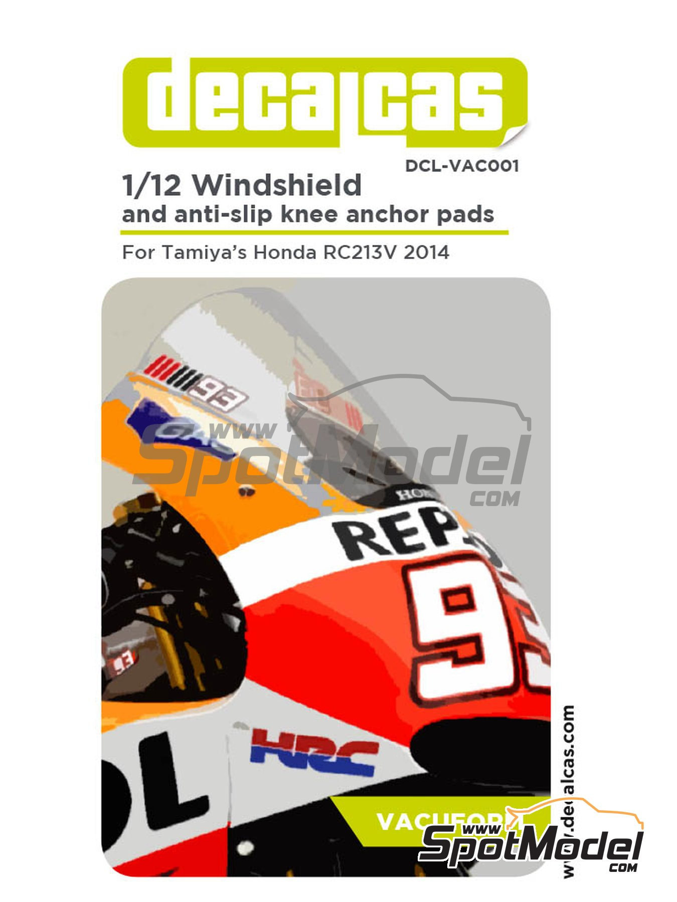Honda RC213V | Vacuum formed parts in 1/12 scale manufactured by Decalcas (ref.DCL-VAC001) image