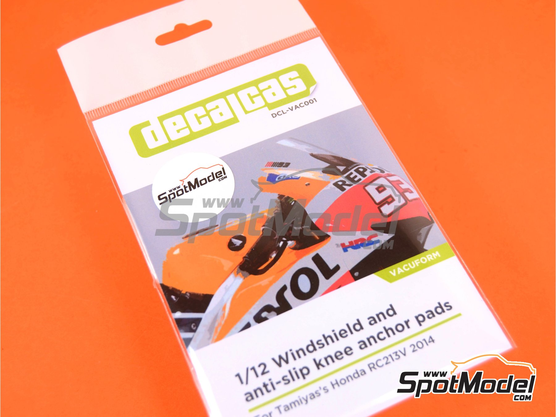 Image 8: Honda RC213V | Vacuum formed parts in 1/12 scale manufactured by Decalcas (ref.DCL-VAC001)