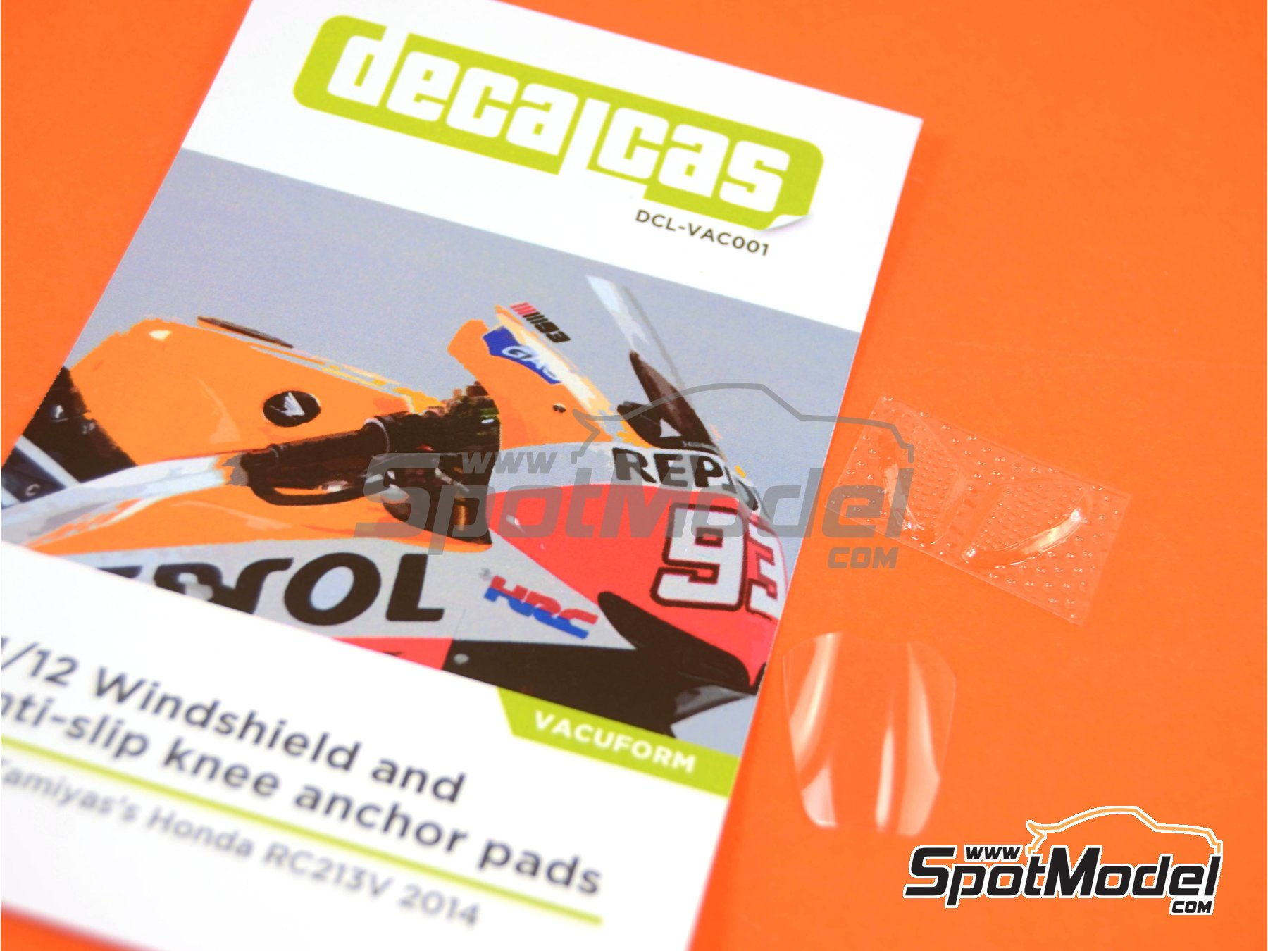 Image 9: Honda RC213V | Vacuum formed parts in 1/12 scale manufactured by Decalcas (ref.DCL-VAC001)