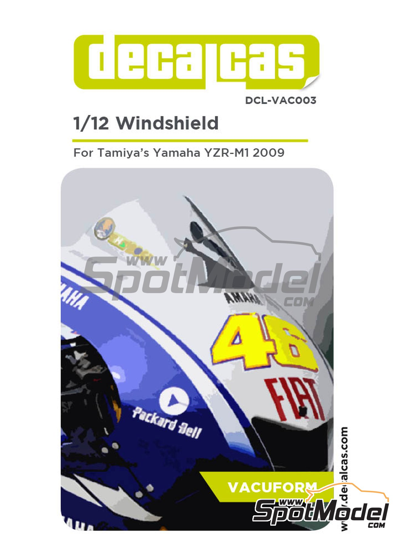 Yamaha YZR-M1 | Vacuum formed parts in 1/12 scale manufactured by Decalcas (ref.DCL-VAC003) image