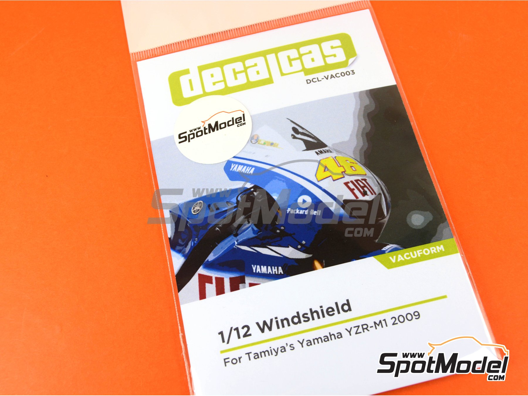 Image 5: Yamaha YZR-M1 | Vacuum formed parts in 1/12 scale manufactured by Decalcas (ref.DCL-VAC003)