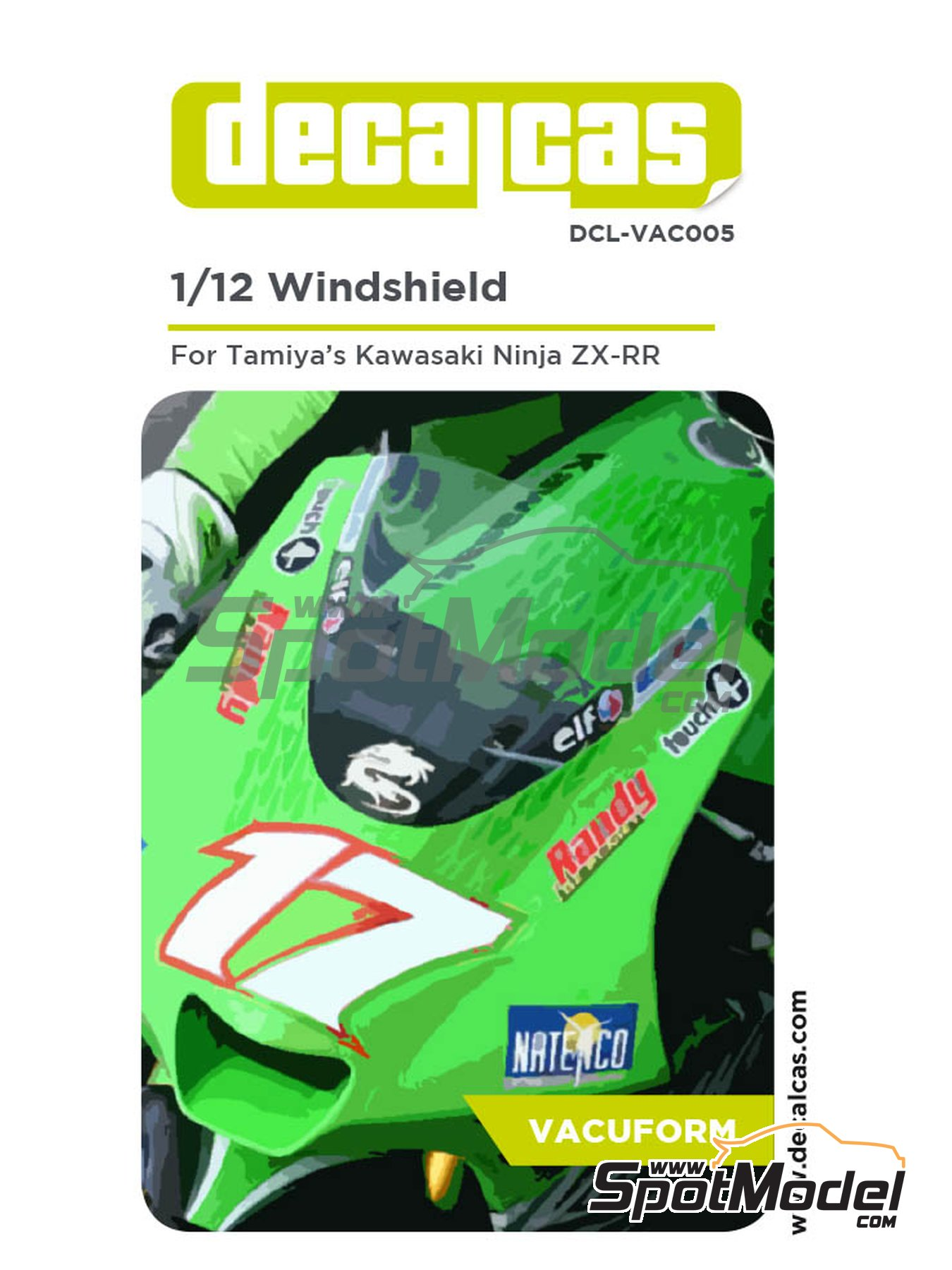 Kawasaki Ninja ZX-RR | Vacuum formed parts in 1/12 scale manufactured by Decalcas (ref. DCL-VAC005) image