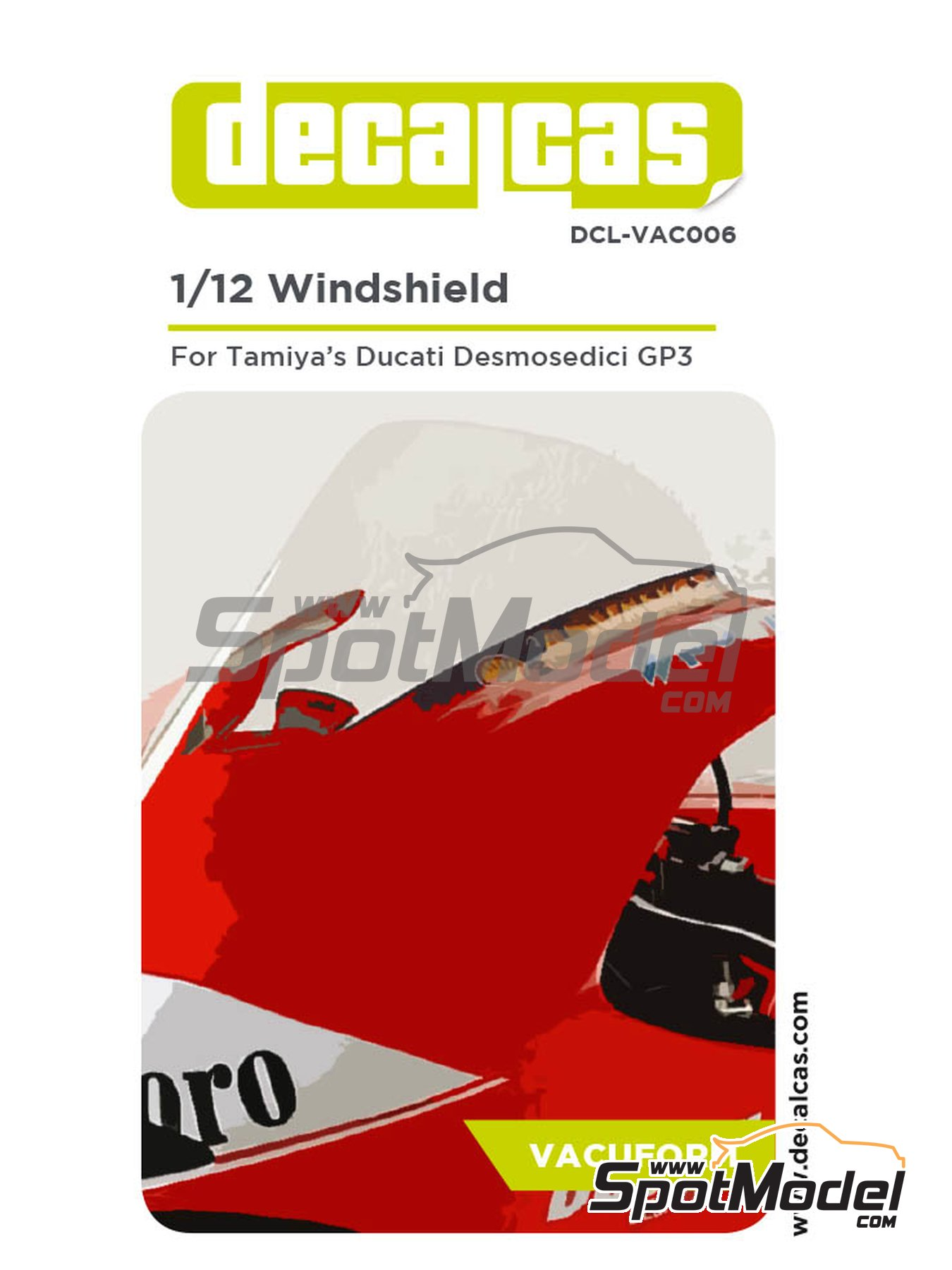 Ducati Desmosedici GP3 - Motorcycle World Championship 2003 | Vacuum formed parts in 1/12 scale manufactured by Decalcas (ref.DCL-VAC006) image